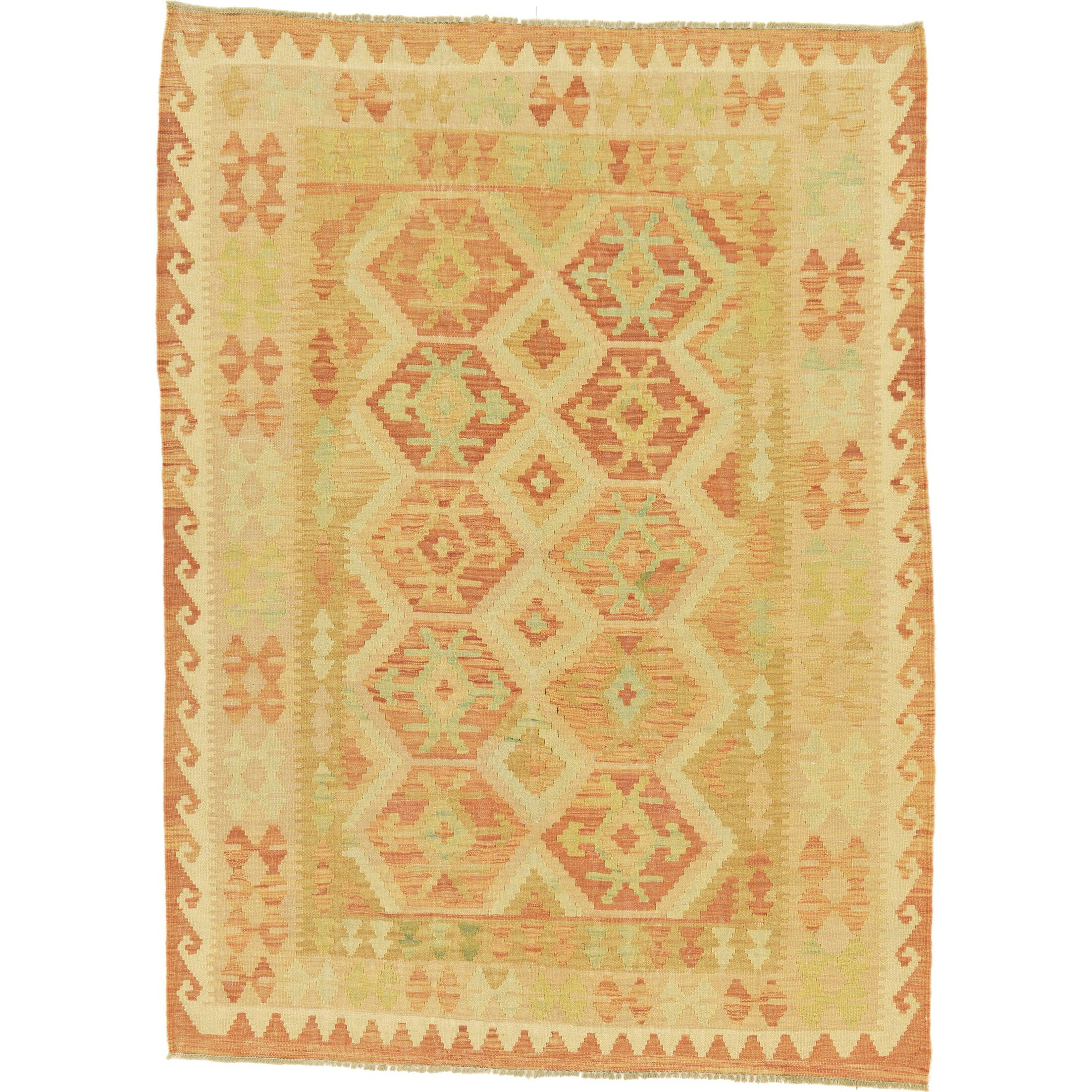 One-of-a-Kind Elland Hand-Knotted Wool Tan Area Rug