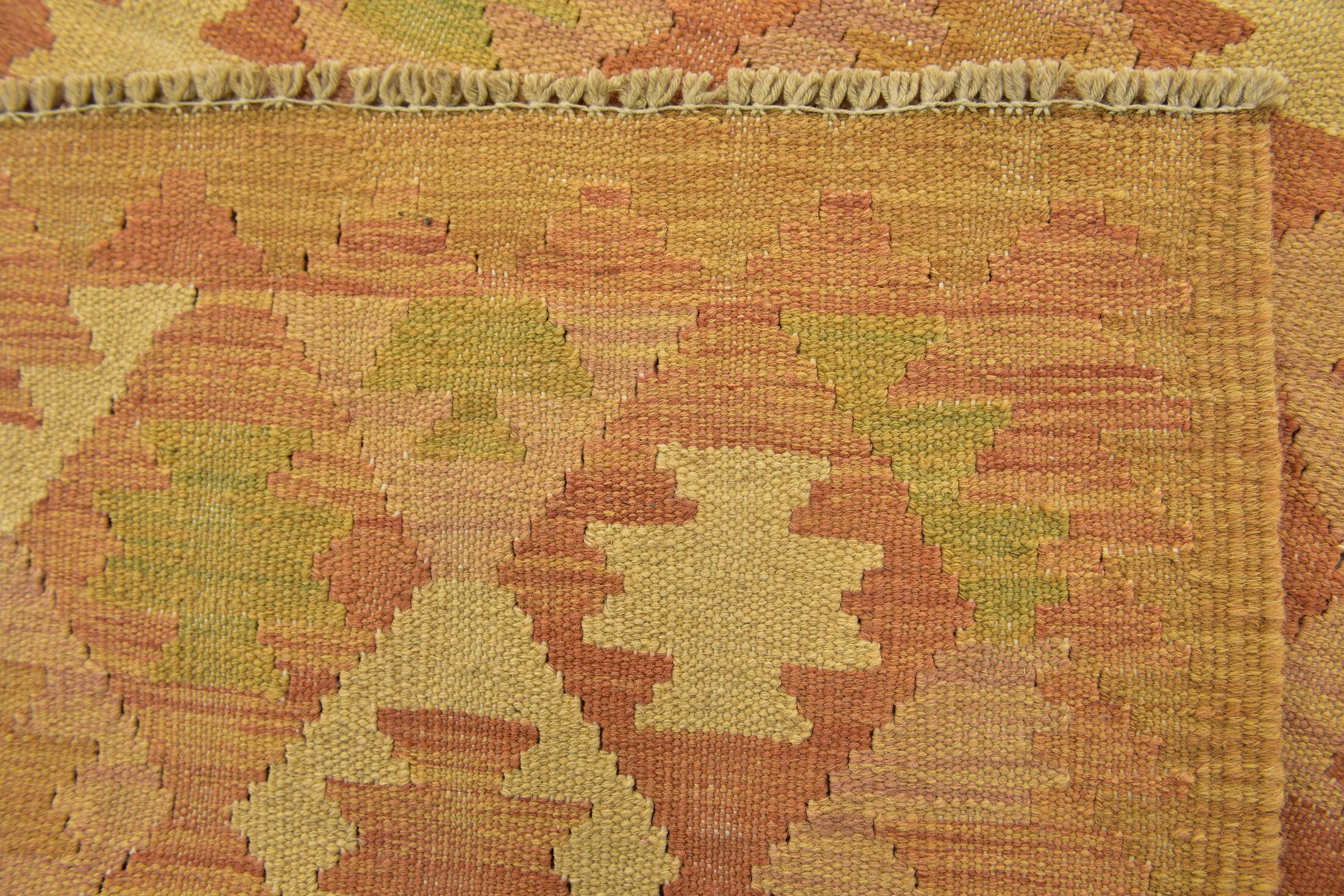 One-of-a-Kind Elland Hand-Knotted Wool Orange/Red Area Rug