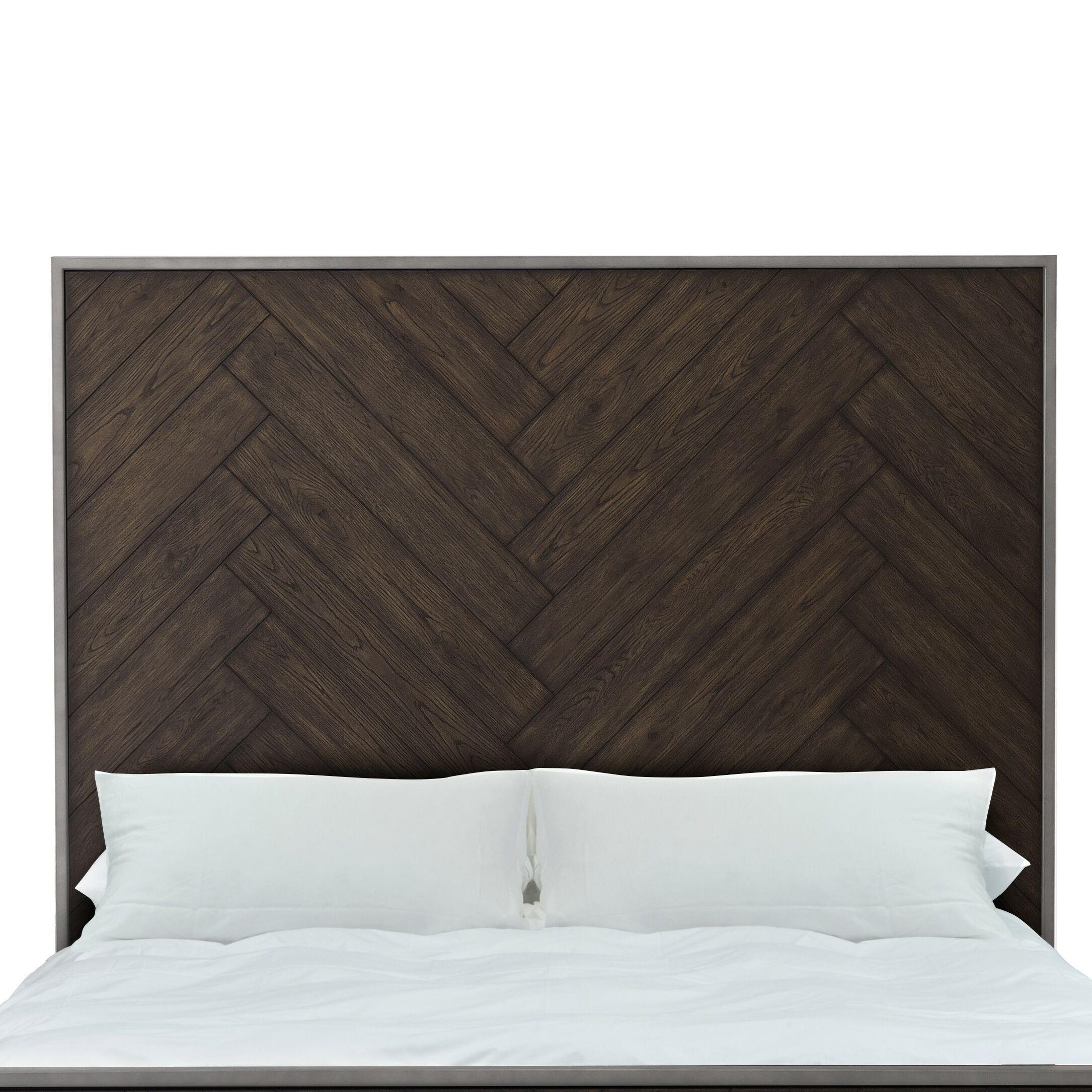 Aahil Panel Headboard Color: Brown, Size: Queen