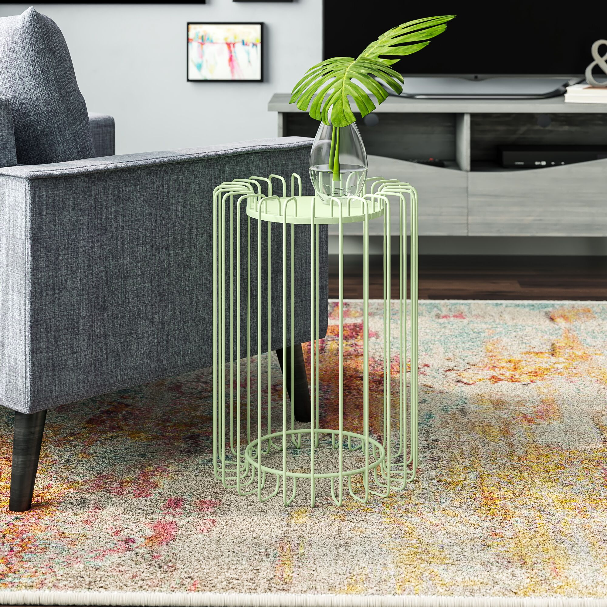 Mcnelly End Table Color: Green