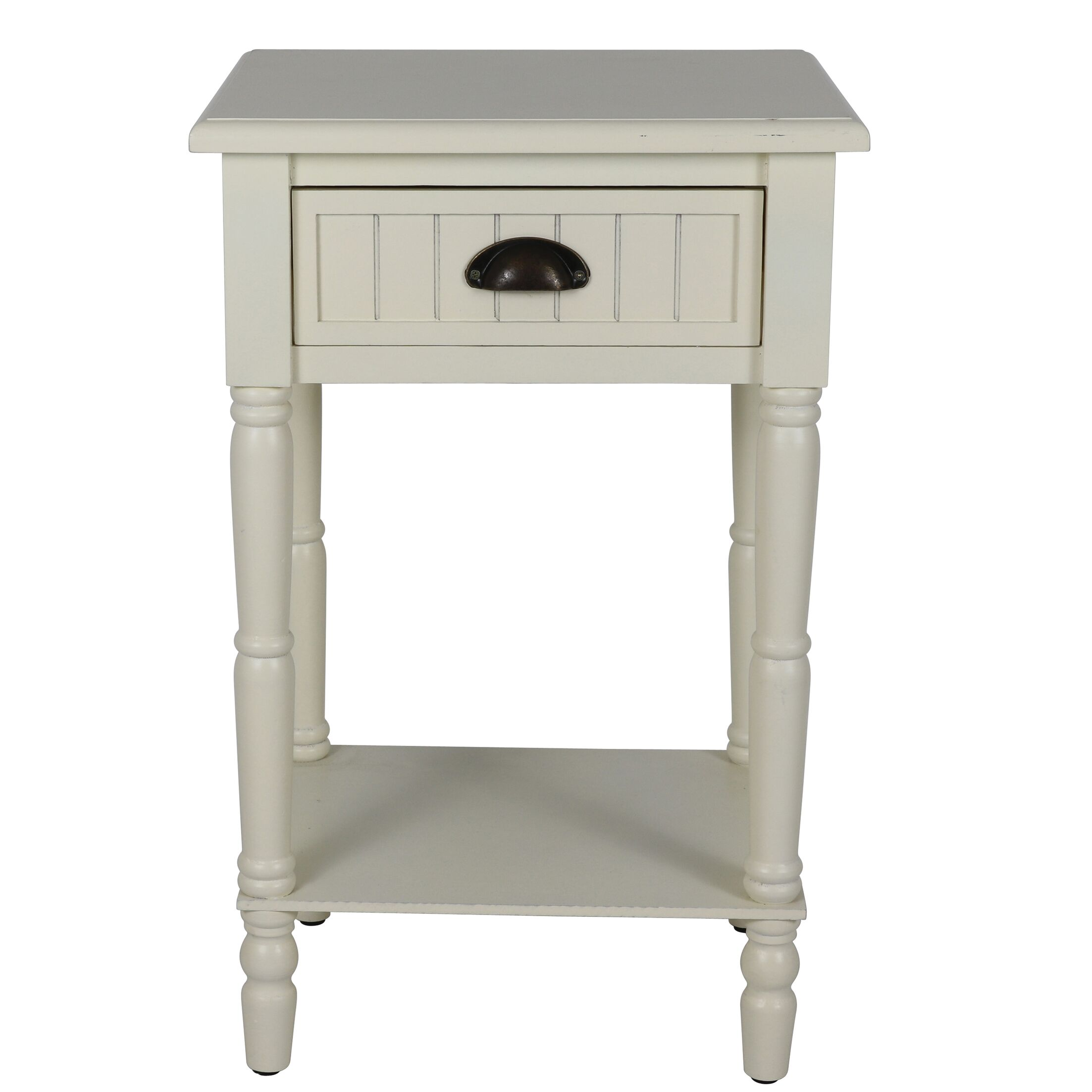 Rosas 1 Drawer Nightstand Color: Antique White