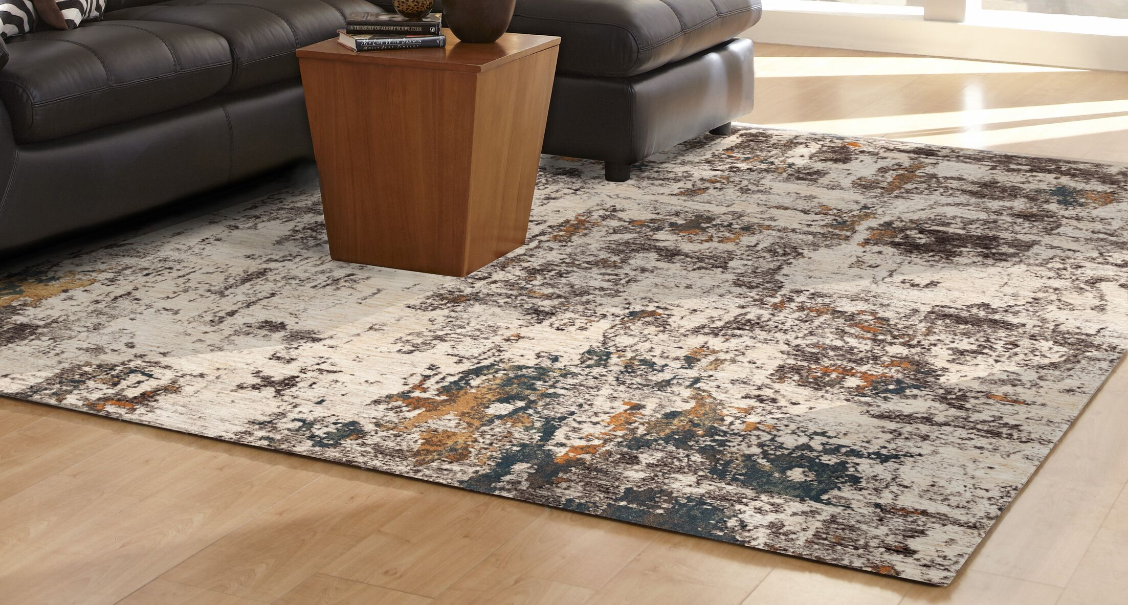 Maltby Abstract Beige/Brown Area Rug Size: Runner 1'11