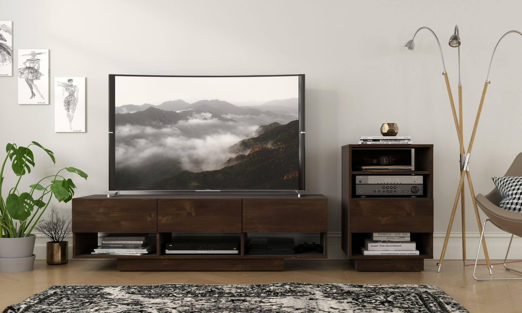 Chesler Audio Tower Entertainment Center