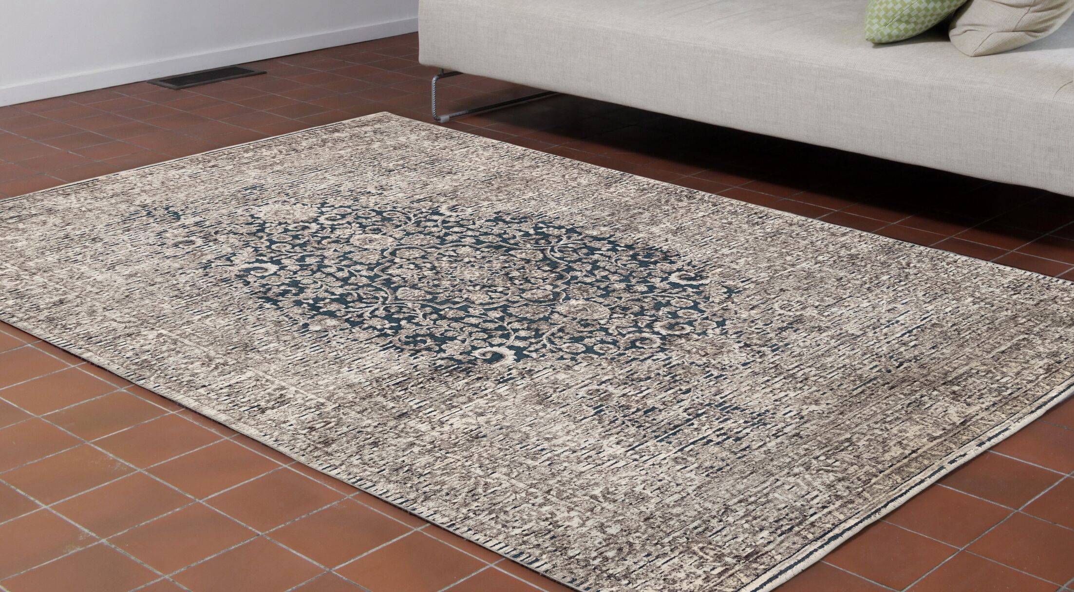 Wolford Medallion Brown Area Rug Size: Runner 1'11