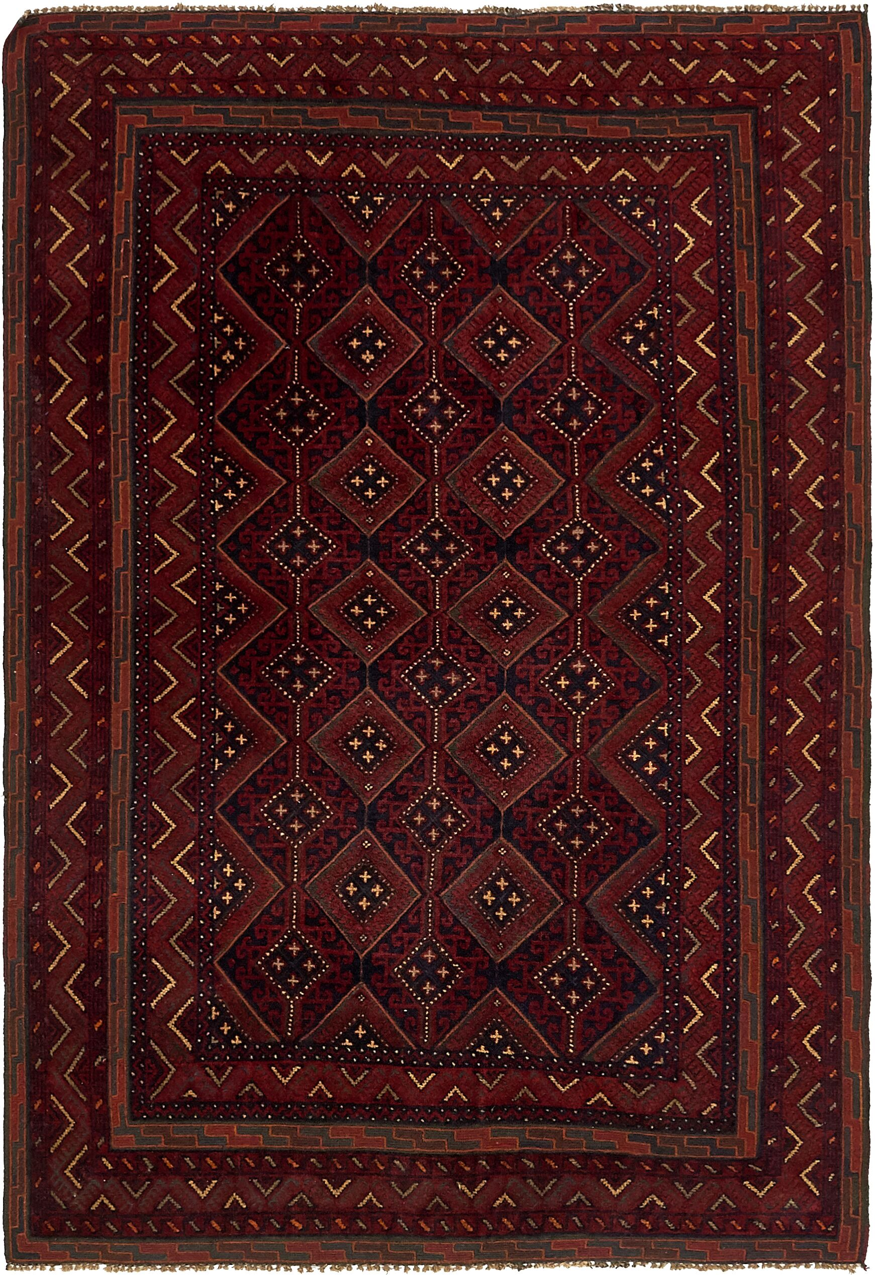 One-of-a-Kind Earley Hand-Knotted 4'7