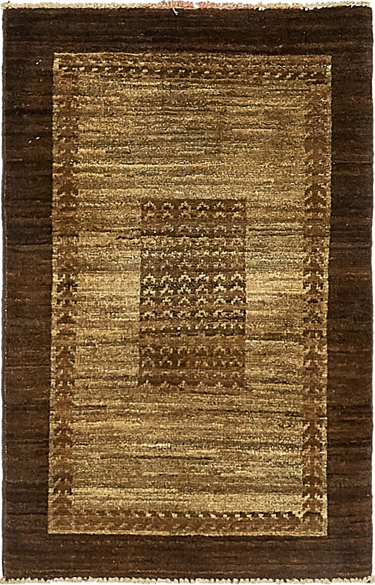 One-of-a-Kind Nash Hand-Knotted  2' x 3' Wool Light Brown Area Rug