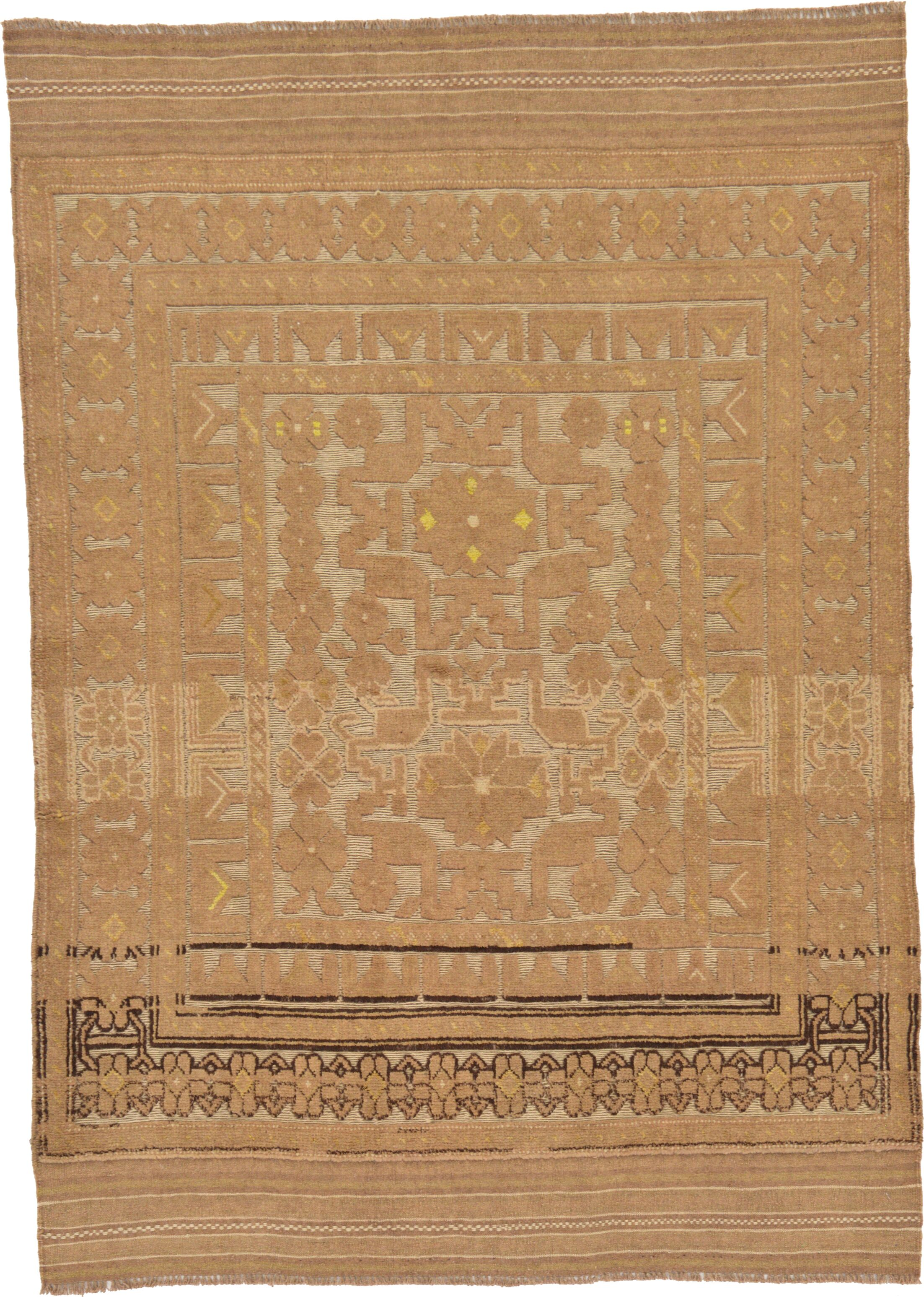One-of-a-Kind Earley Hand-Knotted  4'3