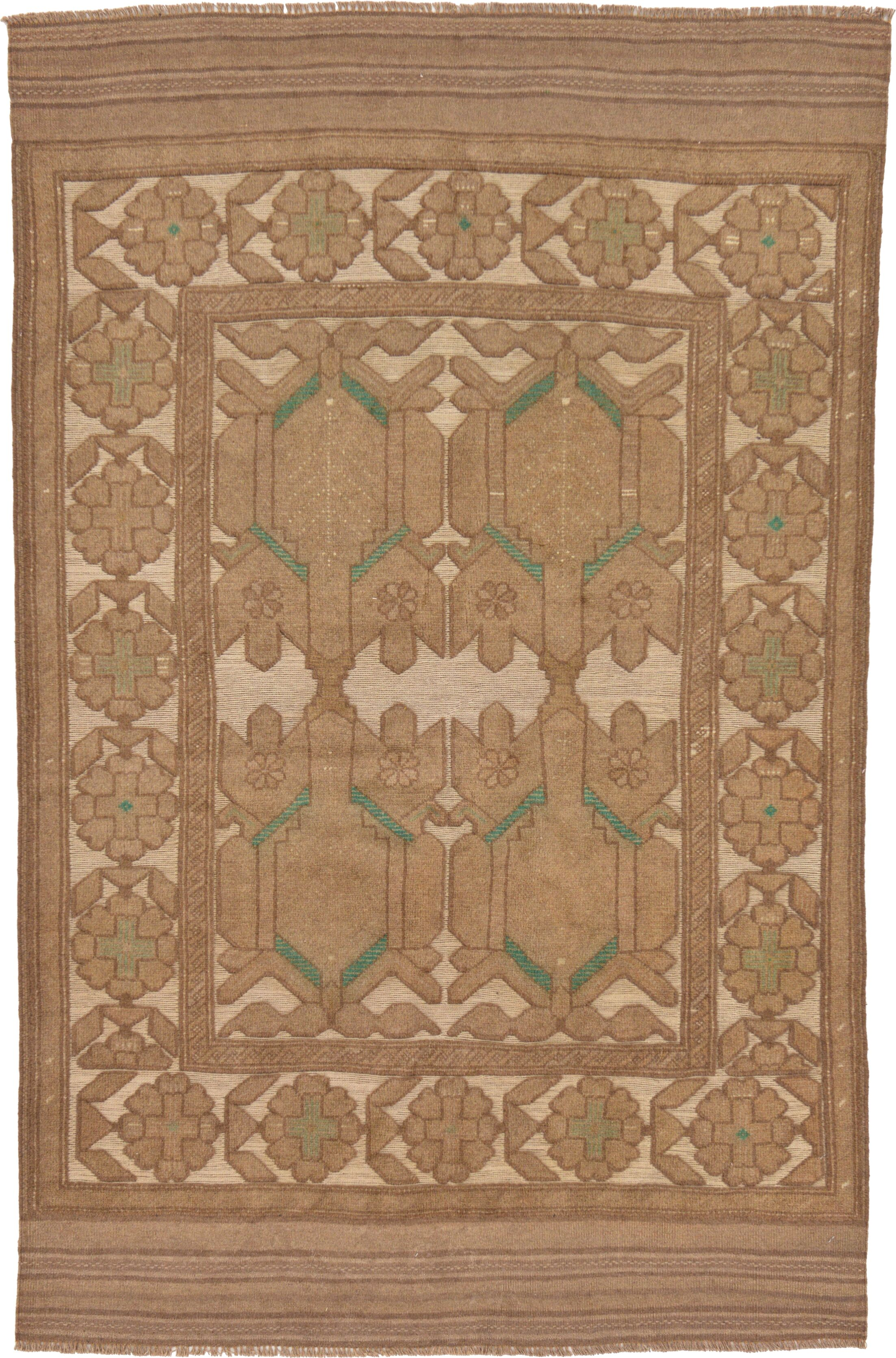 One-of-a-Kind Earley Hand-Knotted  4' x 6'2