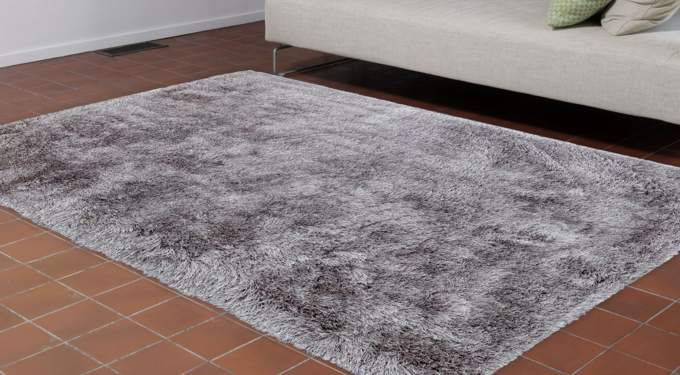 Wolter Solid Gray Area Rug Size: Rectangle 8'3