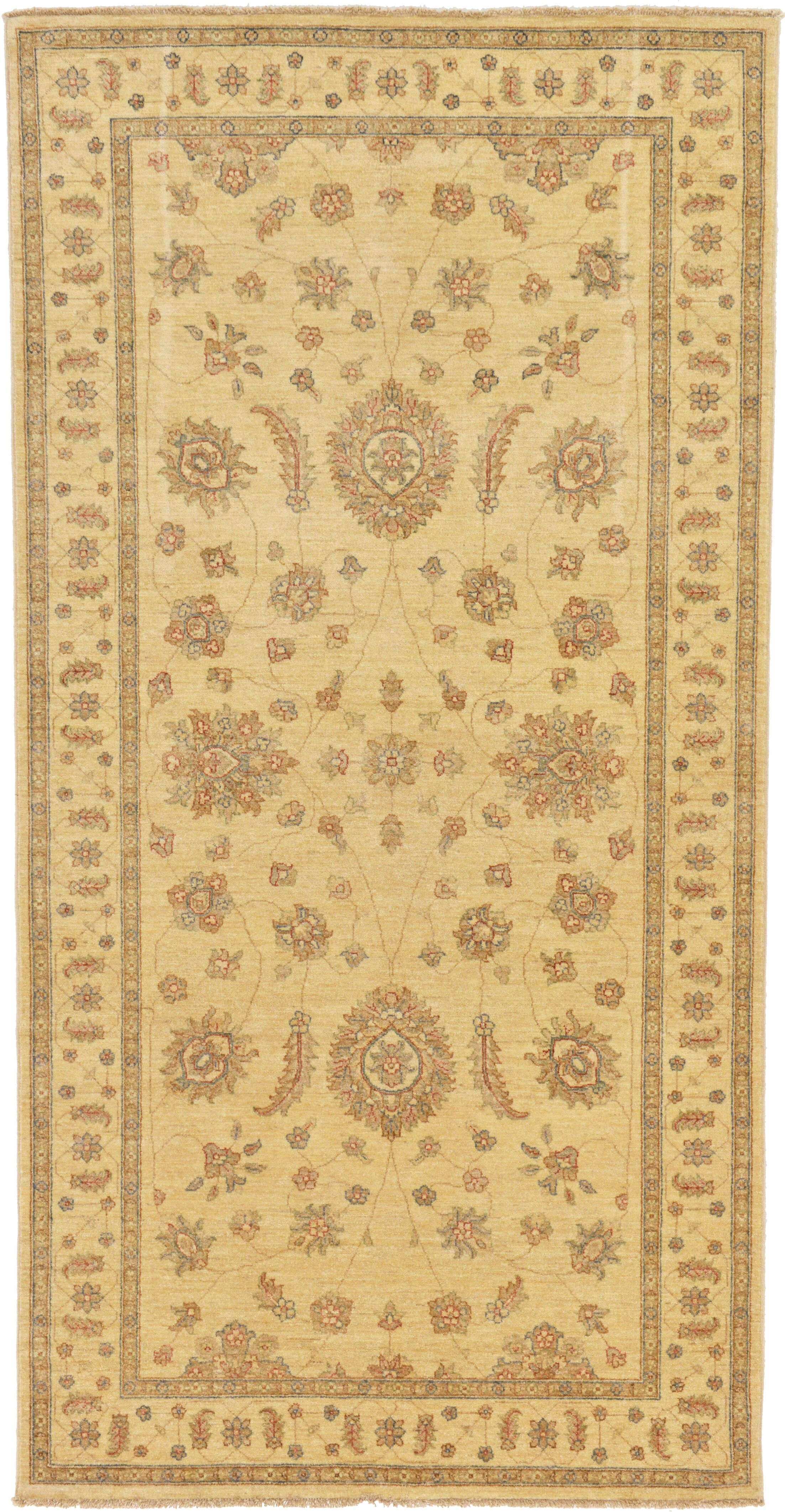 One-of-a-Kind Huntingdon Hand-Knotted  5' x 10' Wool Ivory Area Rug