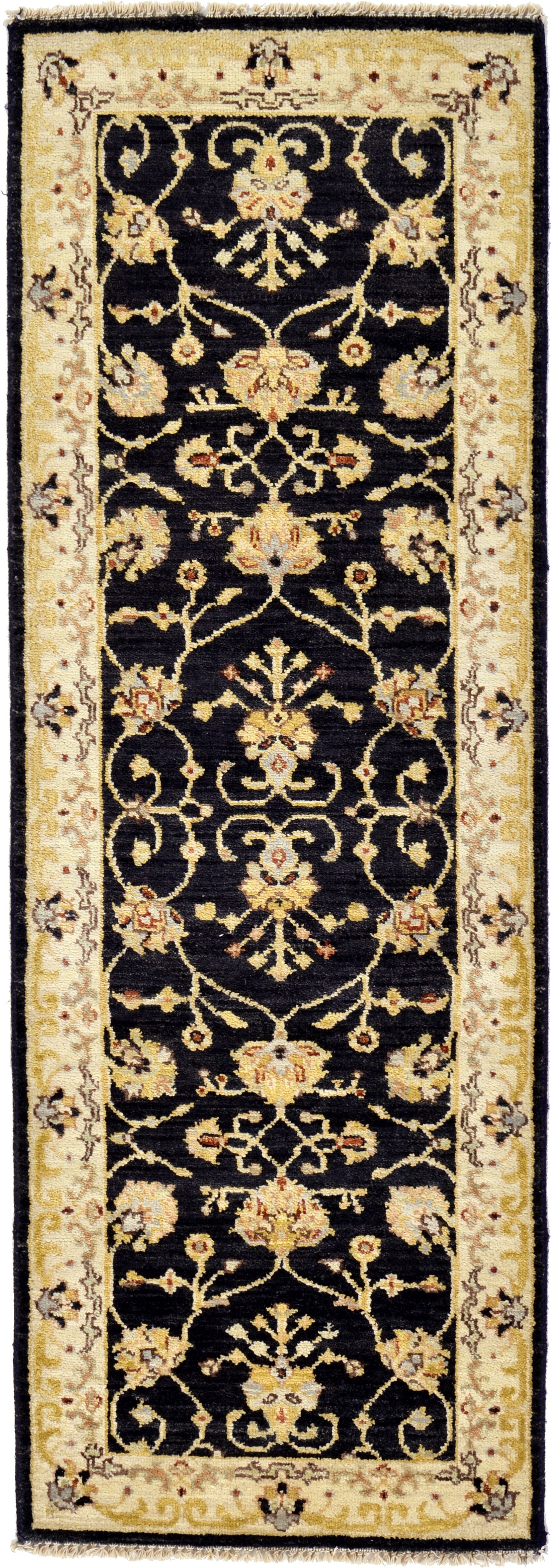 One-of-a-Kind Huntingdon Runner Hand-Knotted  1'9
