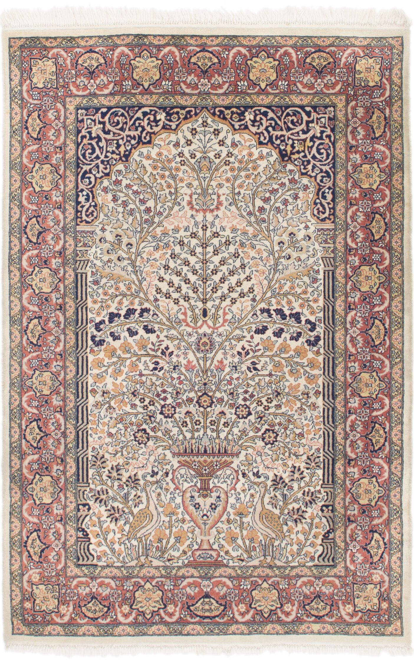 One-of-a-Kind Sarough Hand-Knotted 4'2