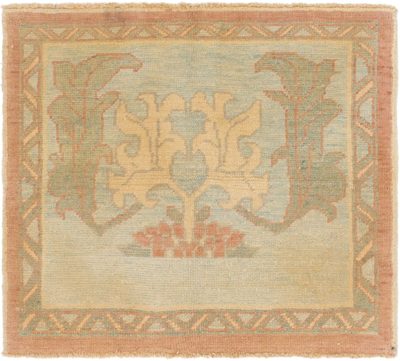 One-of-a-Kind Mart Square Hand-Knotted 3'4