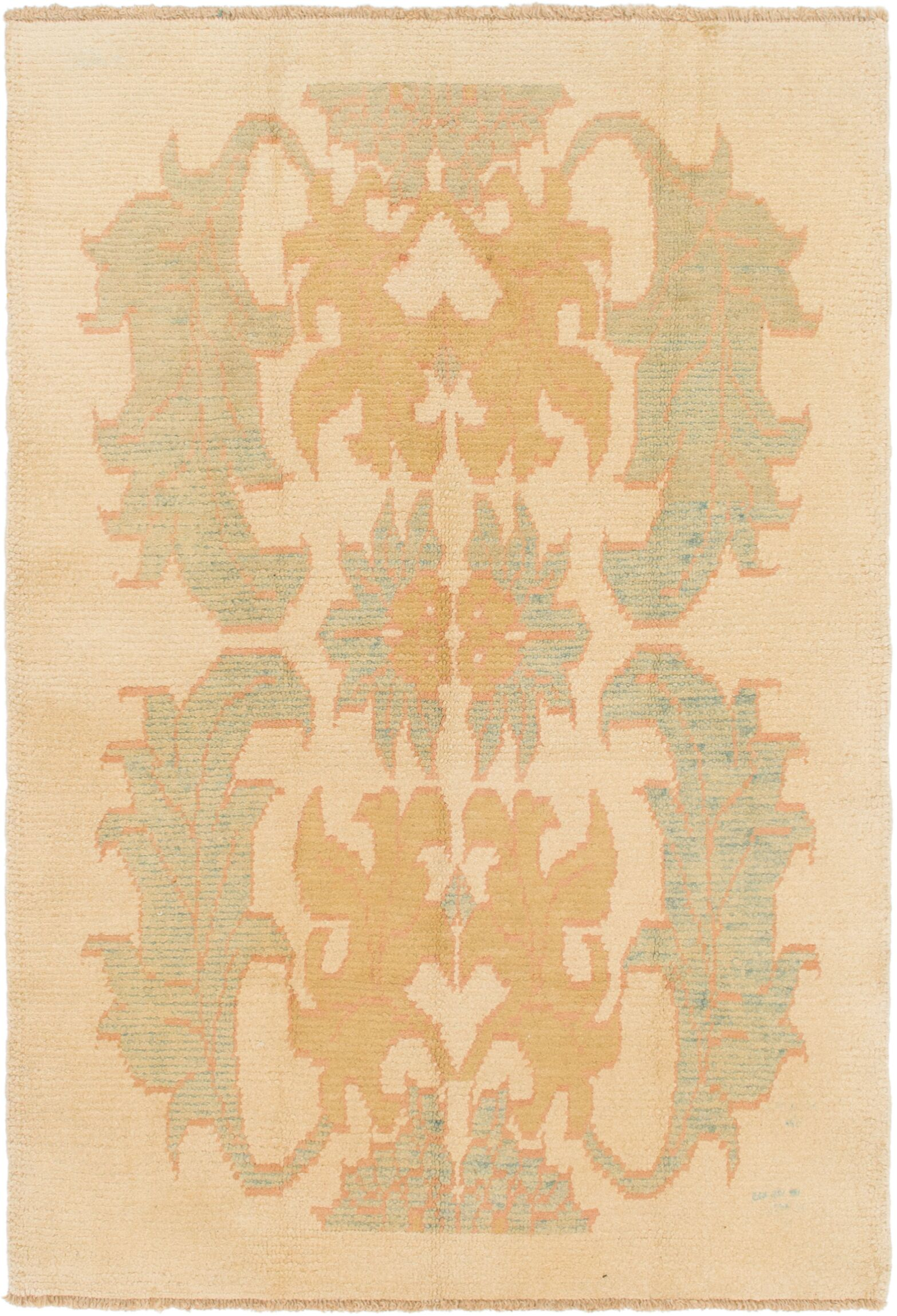 One-of-a-Kind Mart Hand-Knotted  4'4