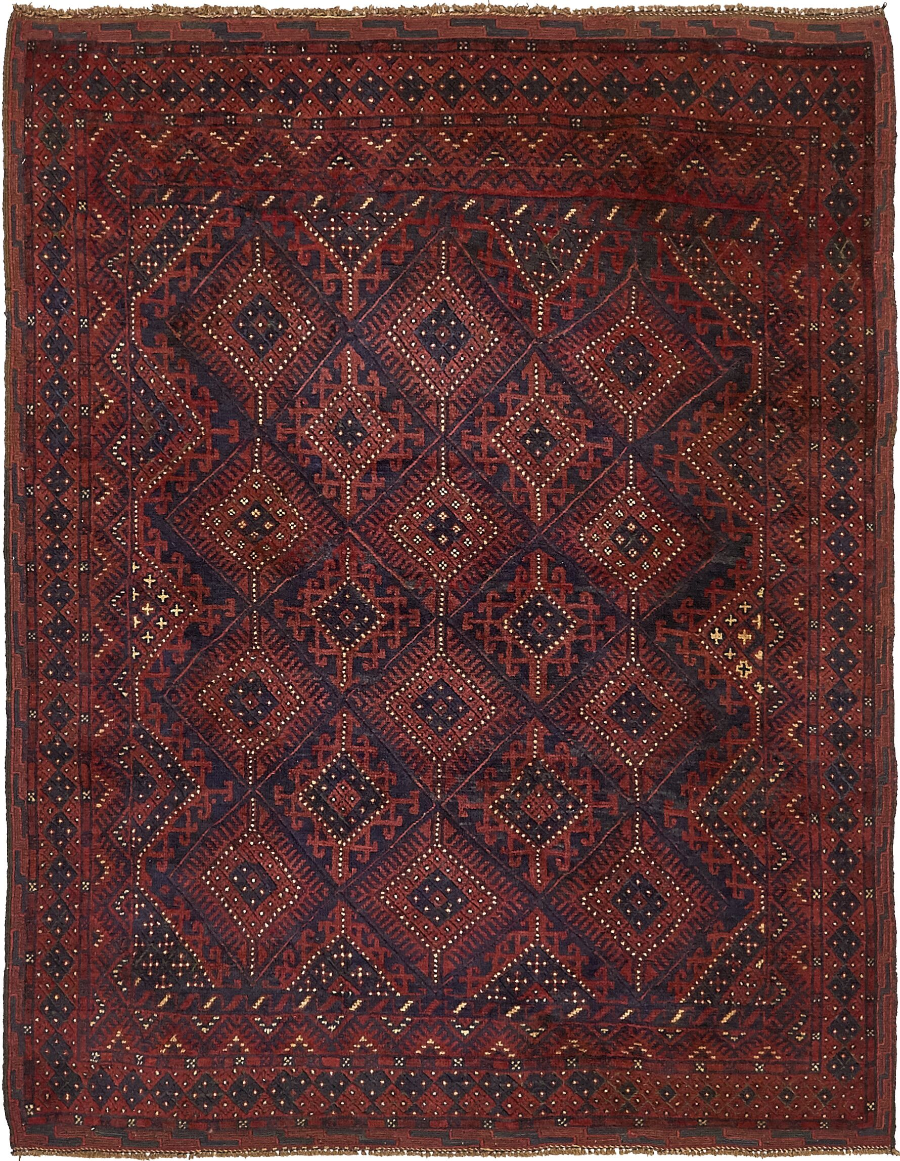 One-of-a-Kind Earley Hand-Knotted 4'10
