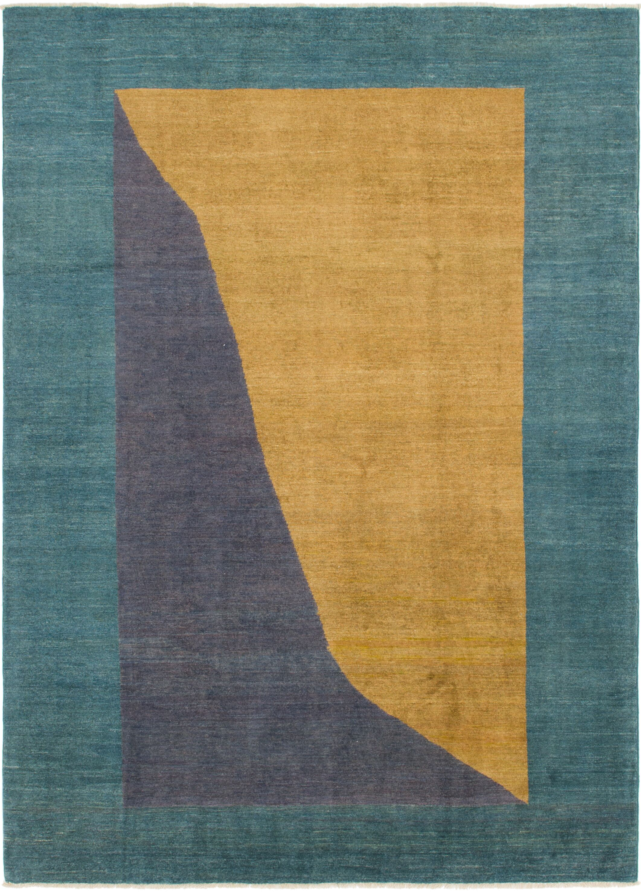 One-of-a-Kind Nash Hand-Knotted Wool Blue/Gold/Purple Area Rug