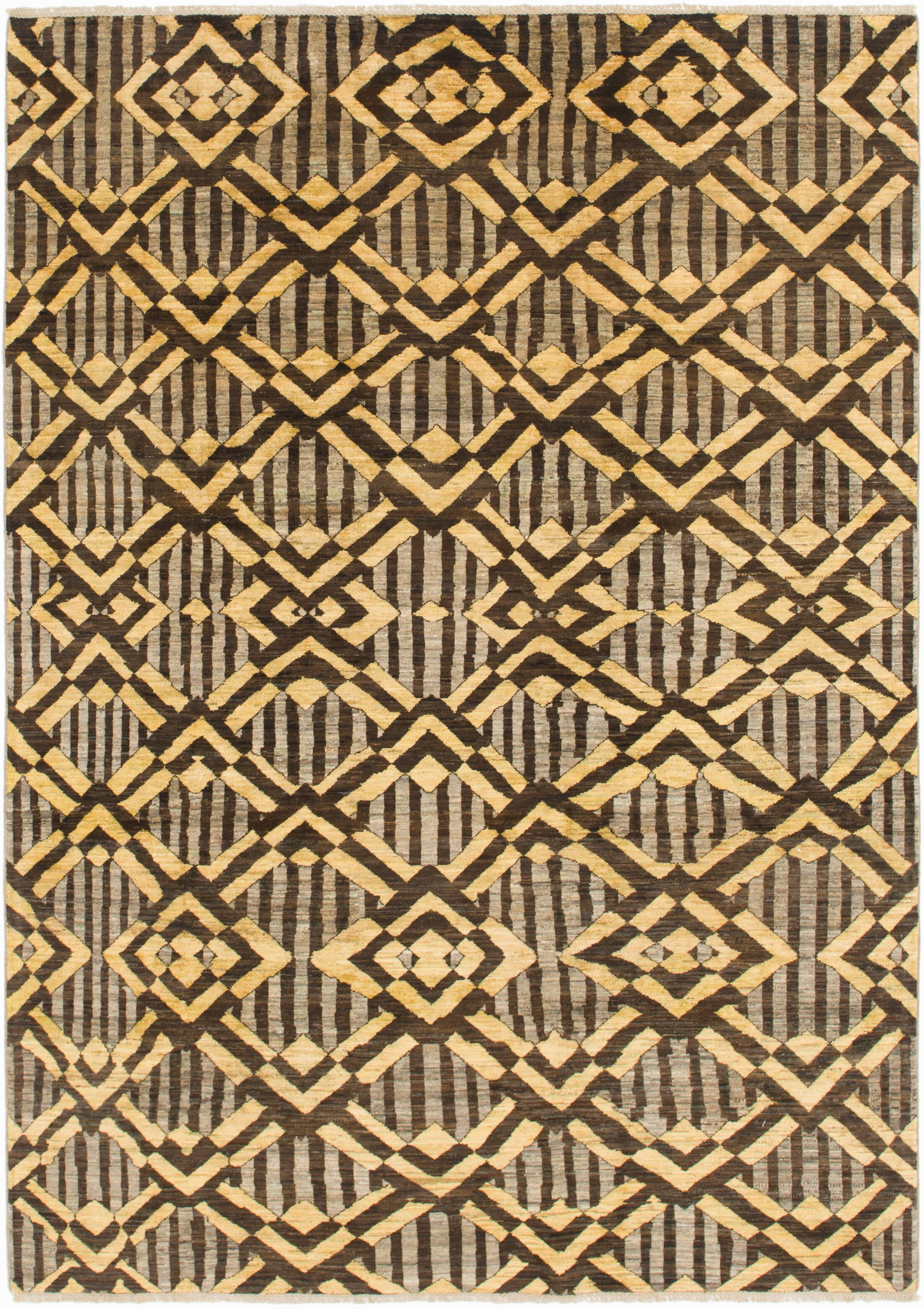 One-of-a-Kind Nash Hand-Knotted Wool Brown/Yellow Area Rug