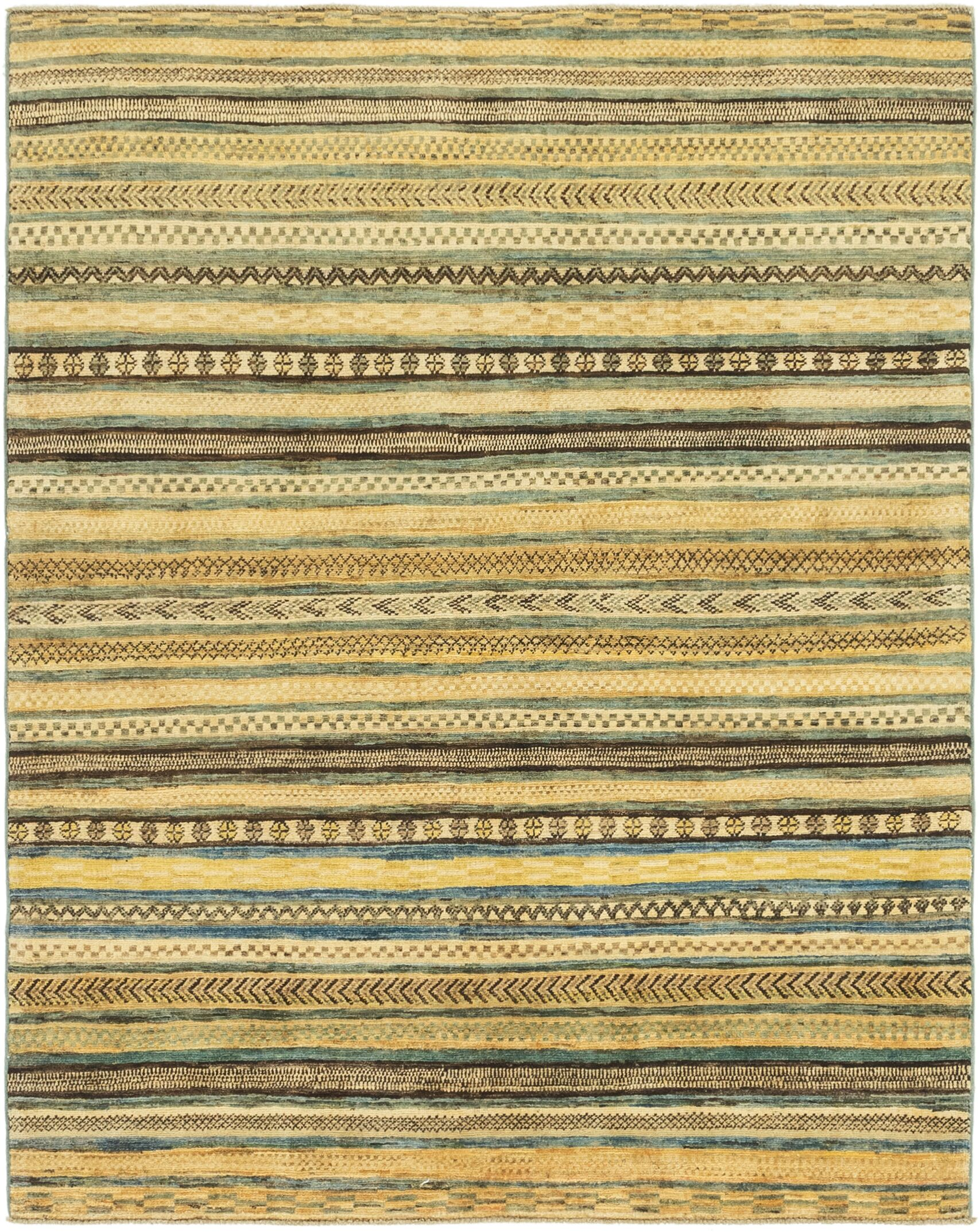 One-of-a-Kind Nash Hand-Knotted Wool Beige/Green/Brown Area Rug
