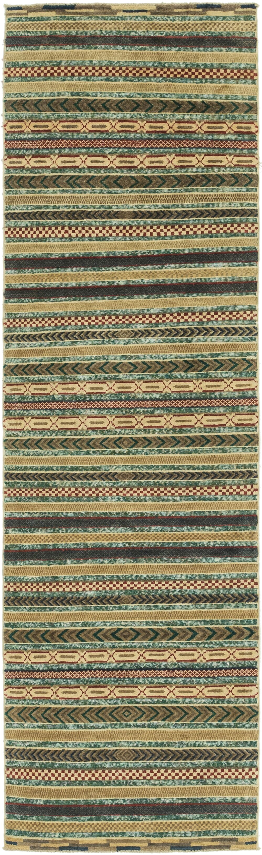 One-of-a-Kind Nash Hand-Knotted Wool Green Area Rug