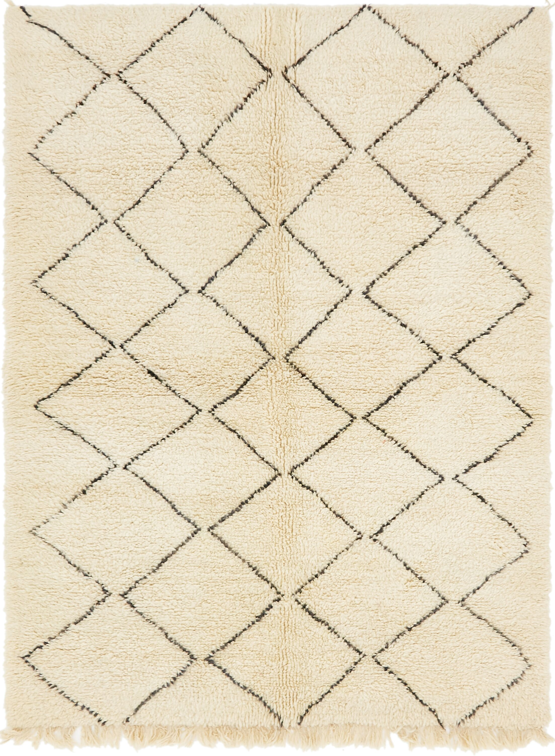 One-of-a-Kind Littlehampt Hand-Knotted Wool Beige Area Rug