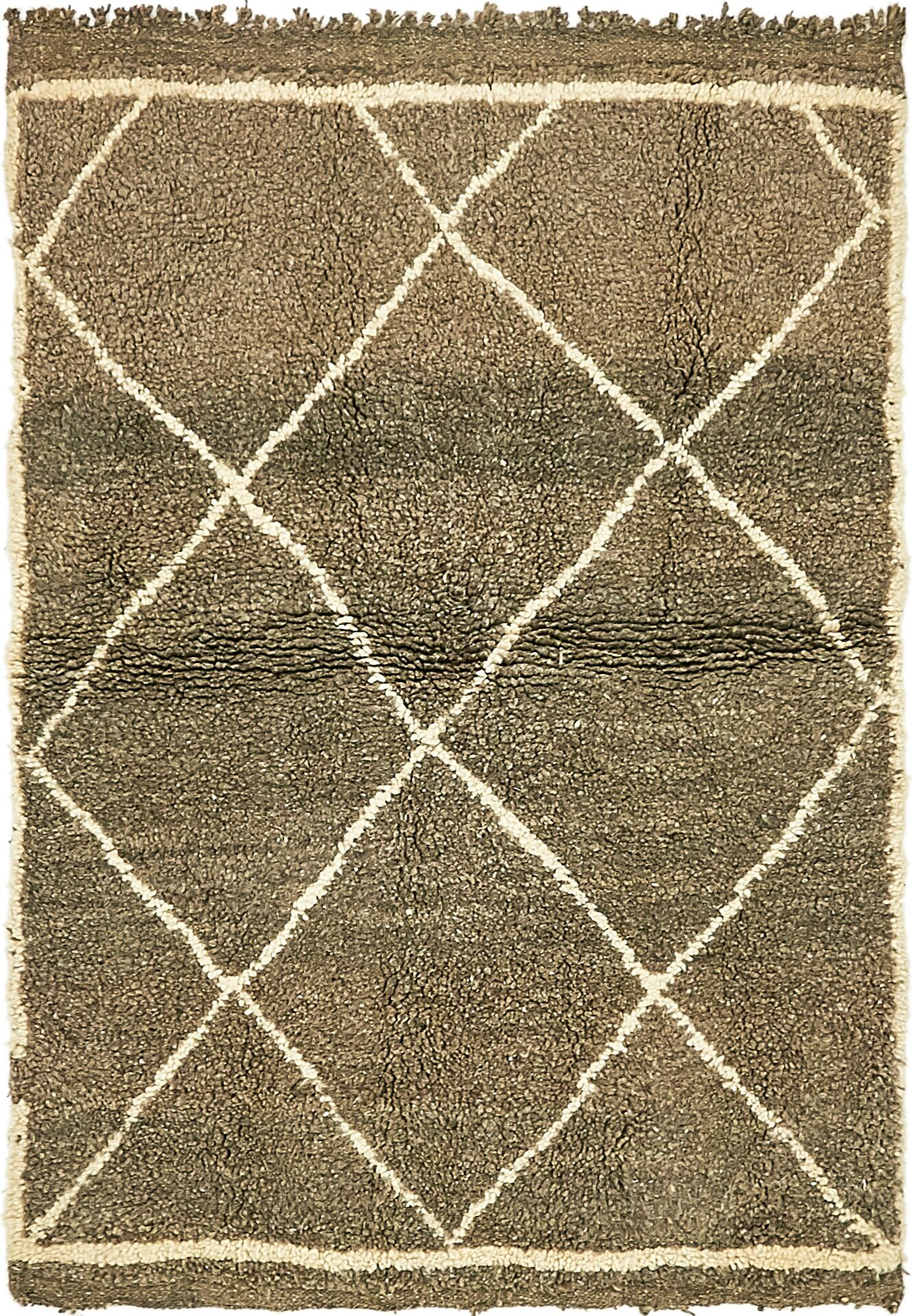 One-of-a-Kind Towcester Hand-Knotted Wool Brown Area Rug