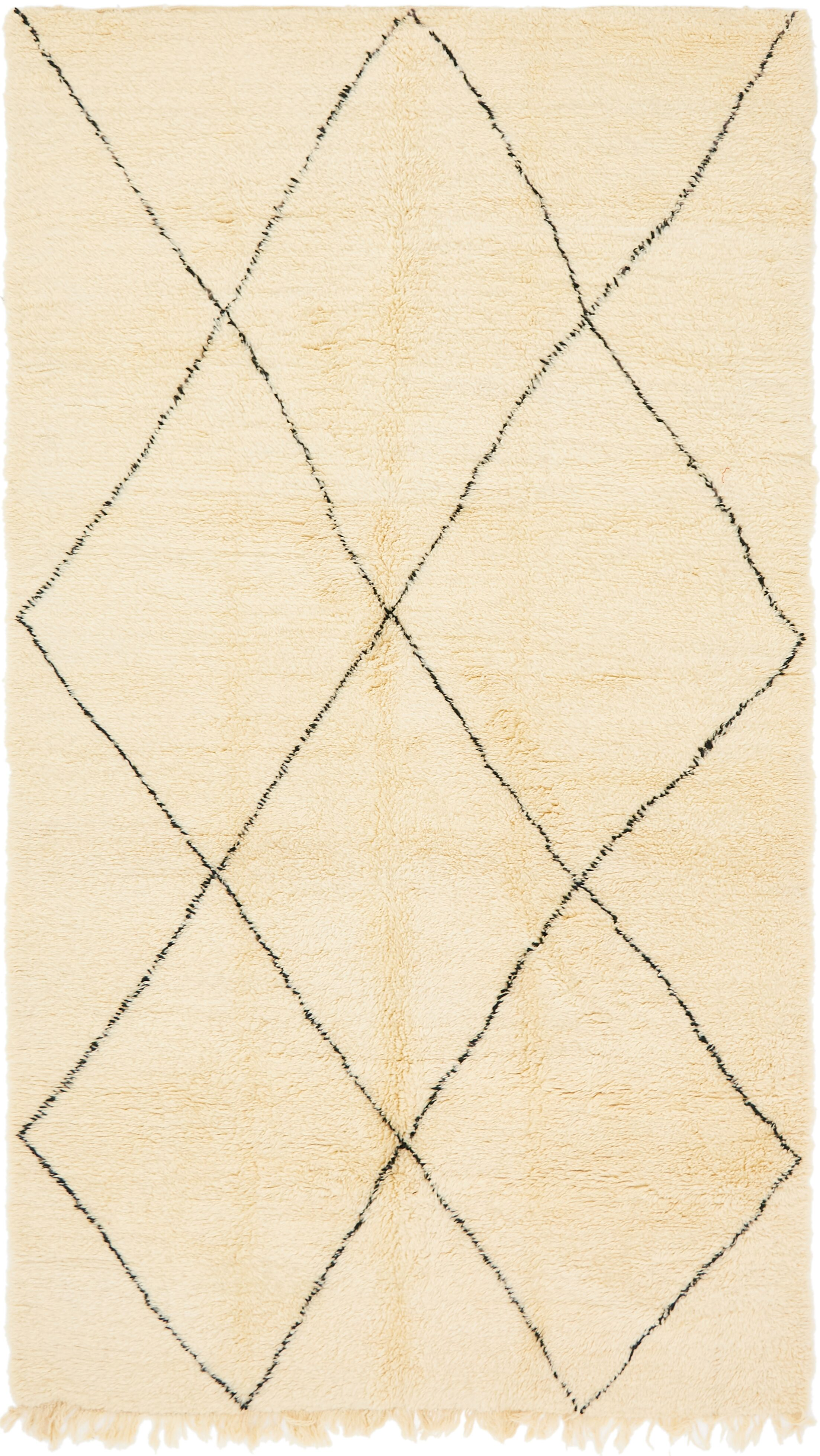 One-of-a-Kind Lutterworth Hand-Knotted Wool Beige Area Rug