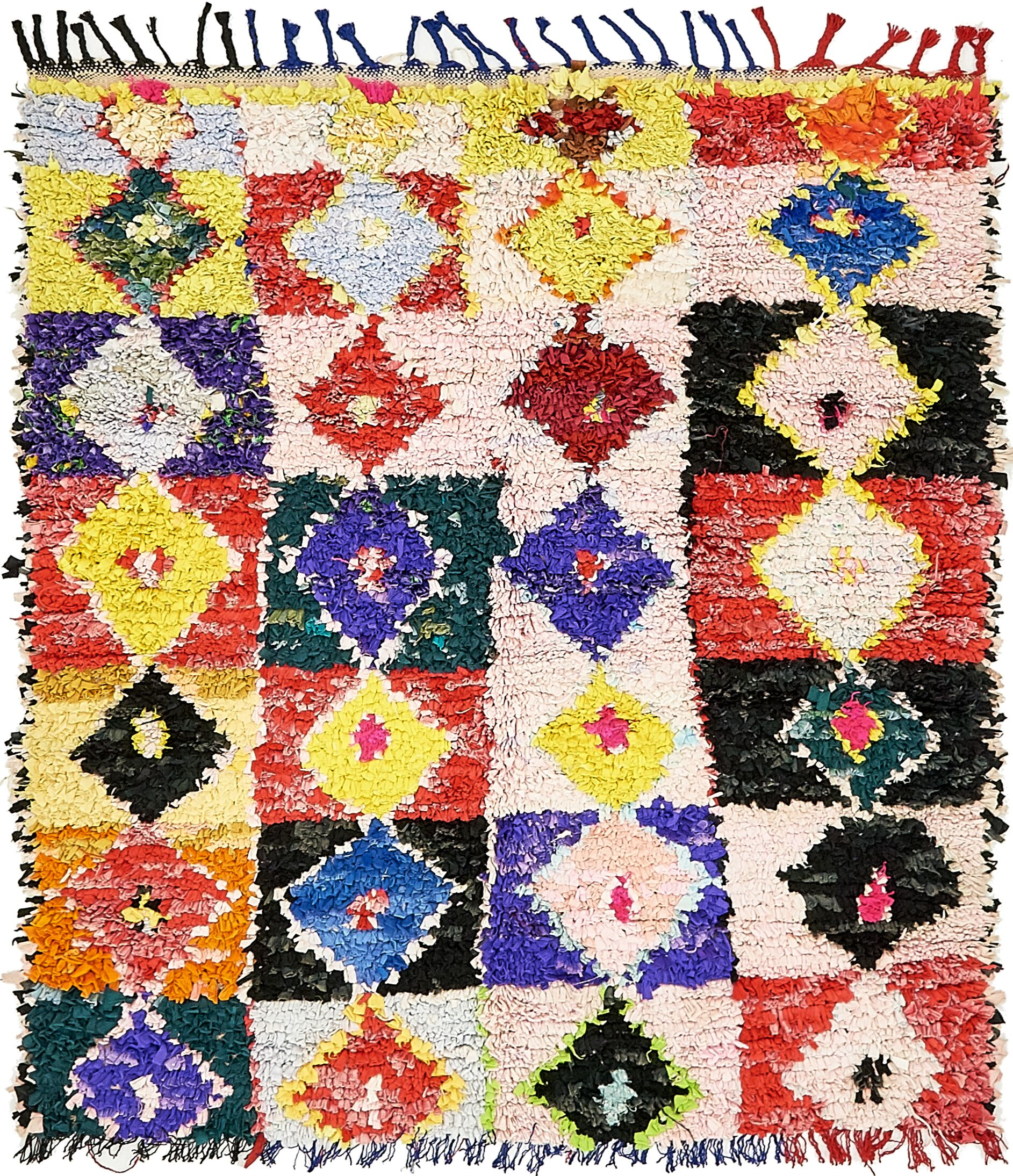 One-of-a-Kind Erithon Hand-Knotted Wool Beige/Red/Yellow Area Rug