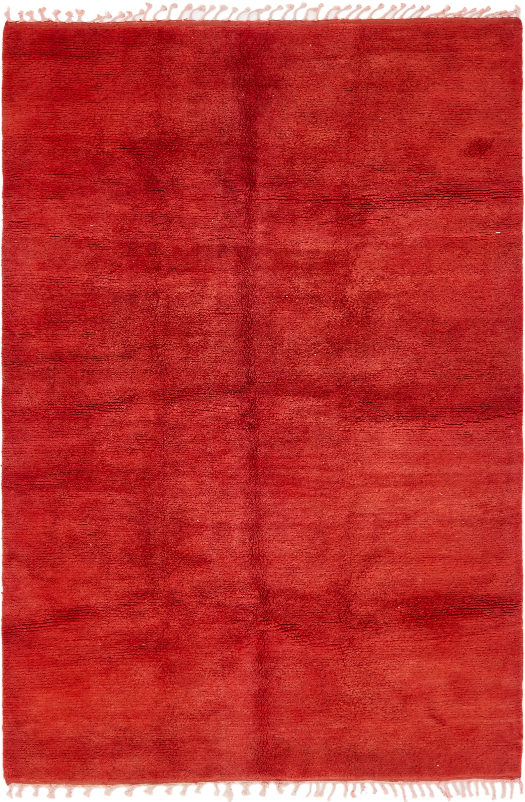 One-of-a-Kind Hawkinge Hand-Knotted Wool Red Area Rug