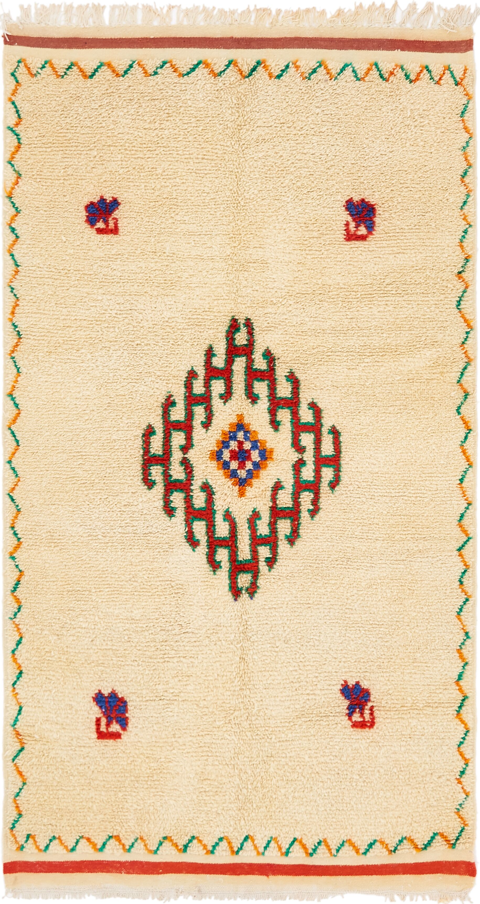 One-of-a-Kind Tadcaster Hand-Knotted Wool Beige Area Rug
