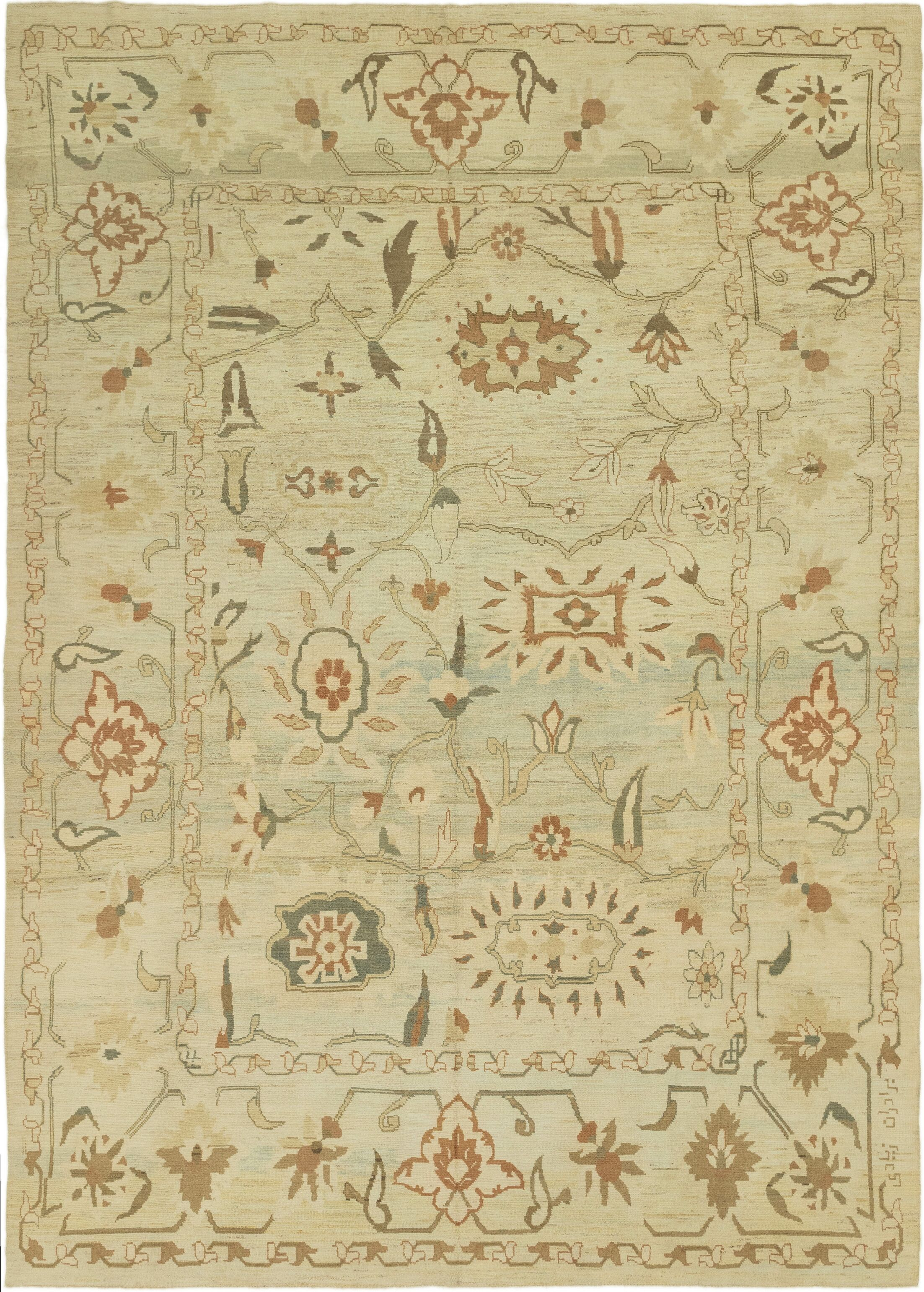 One-of-a-Kind Mart Hand-Knotted Wool Green Area Rug