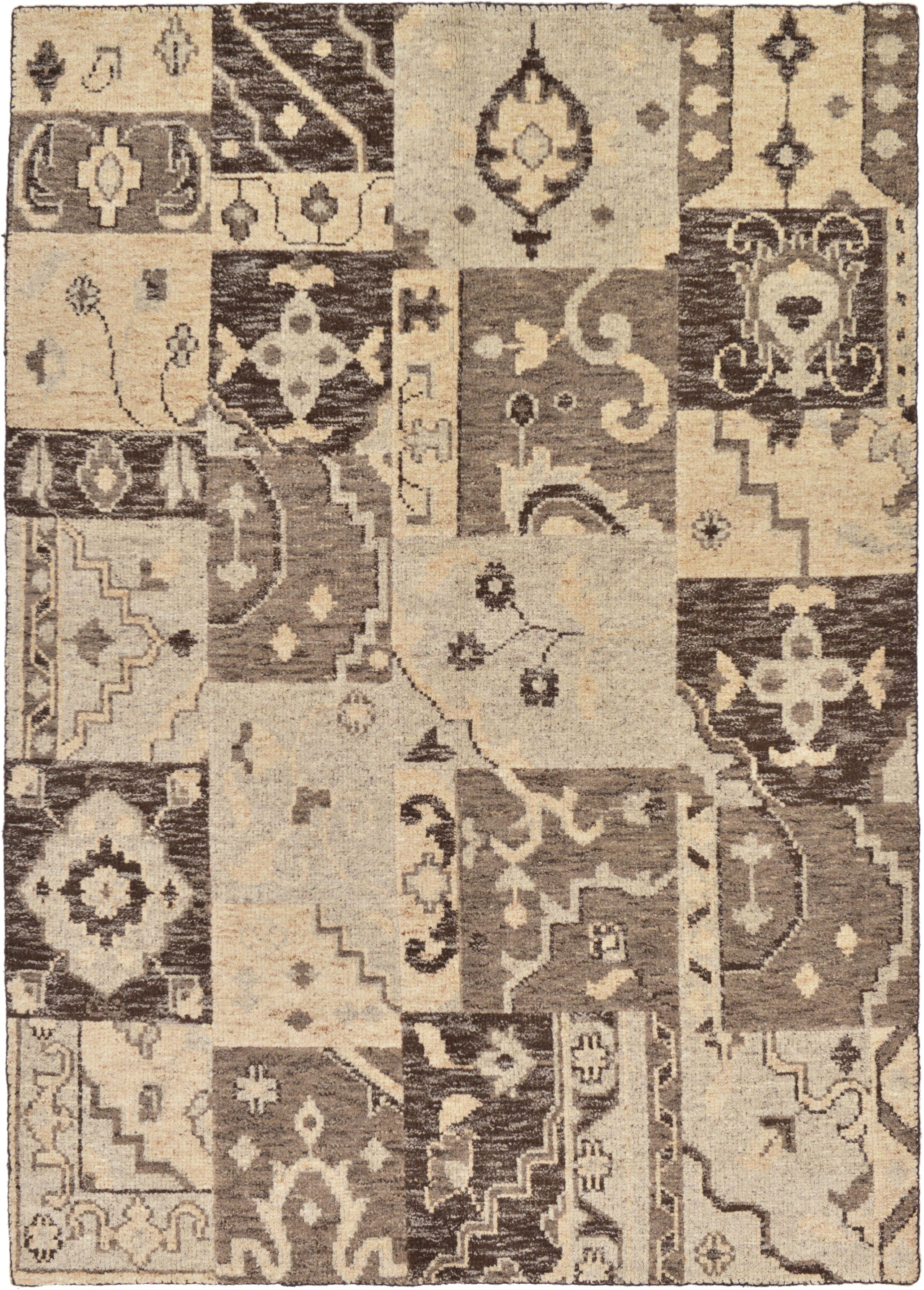 One-of-a-Kind Penryn Hand-Knotted Wool Beige/Brown Area Rug