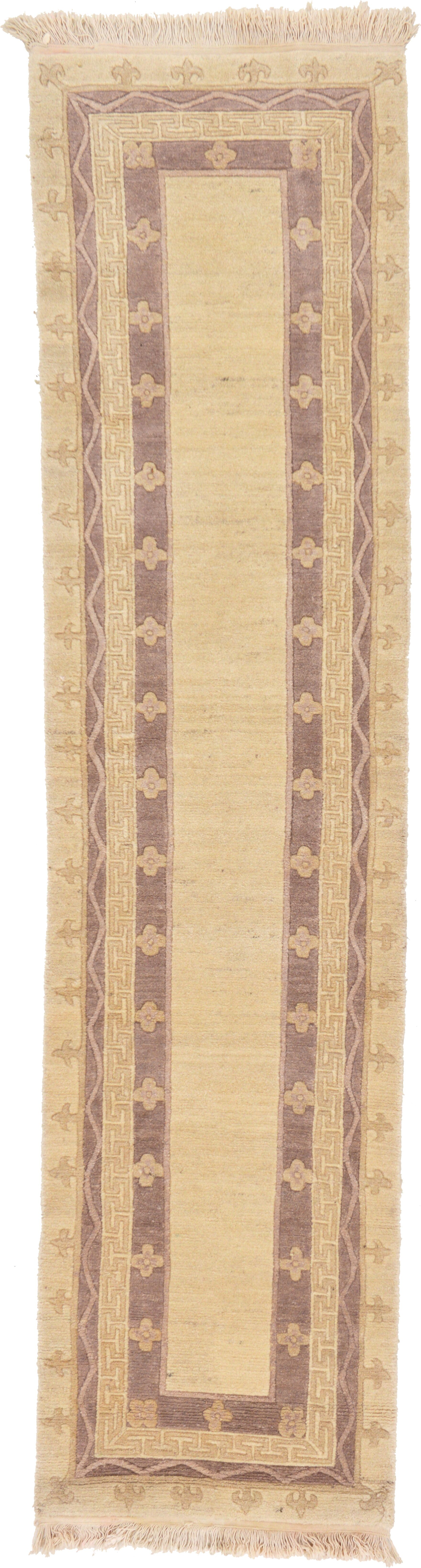 One-of-a-Kind Ollert Hand-Knotted Wool Beige Area Rug
