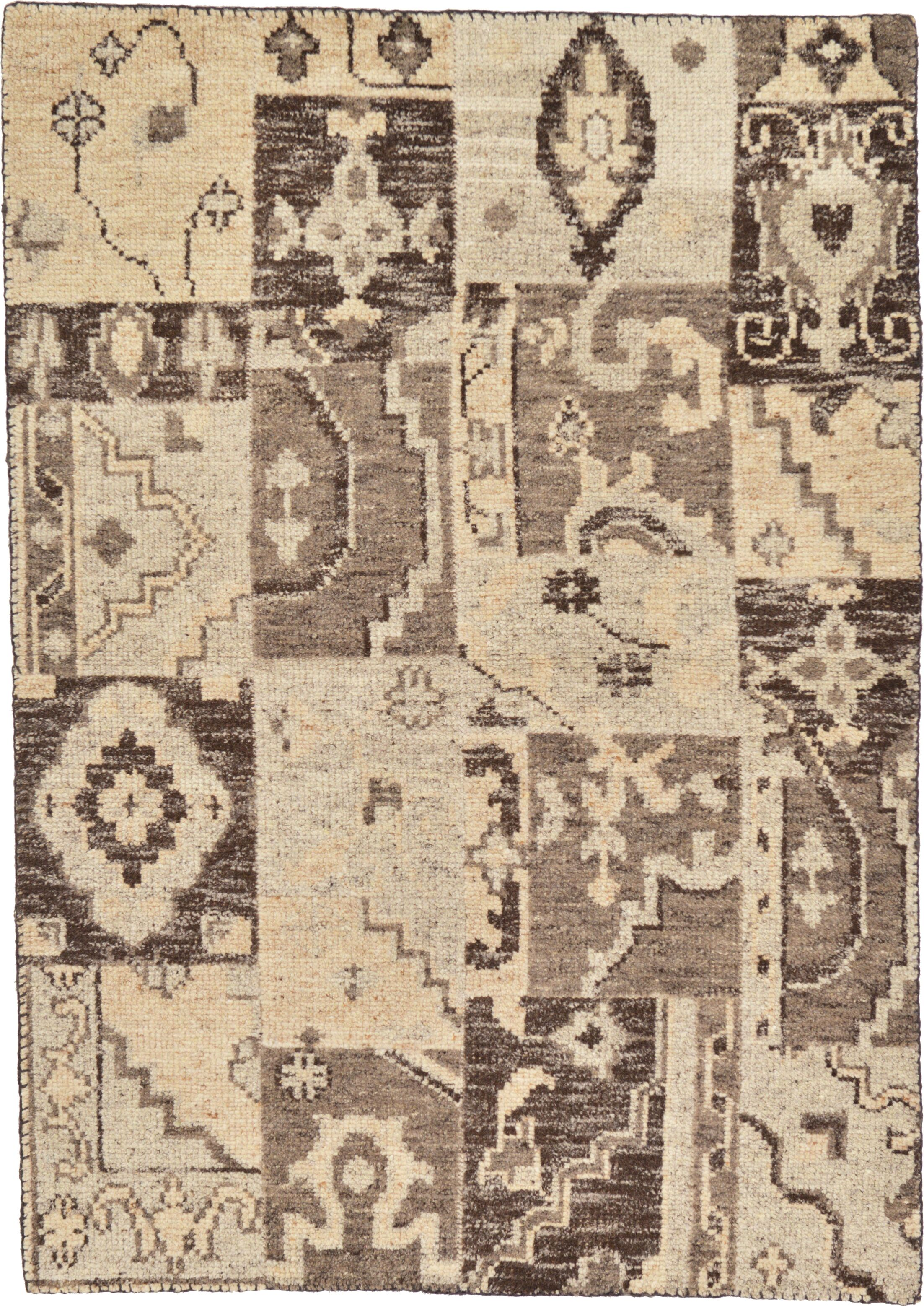 One-of-a-Kind Orford Hand-Knotted Wool Beige/Brown Area Rug