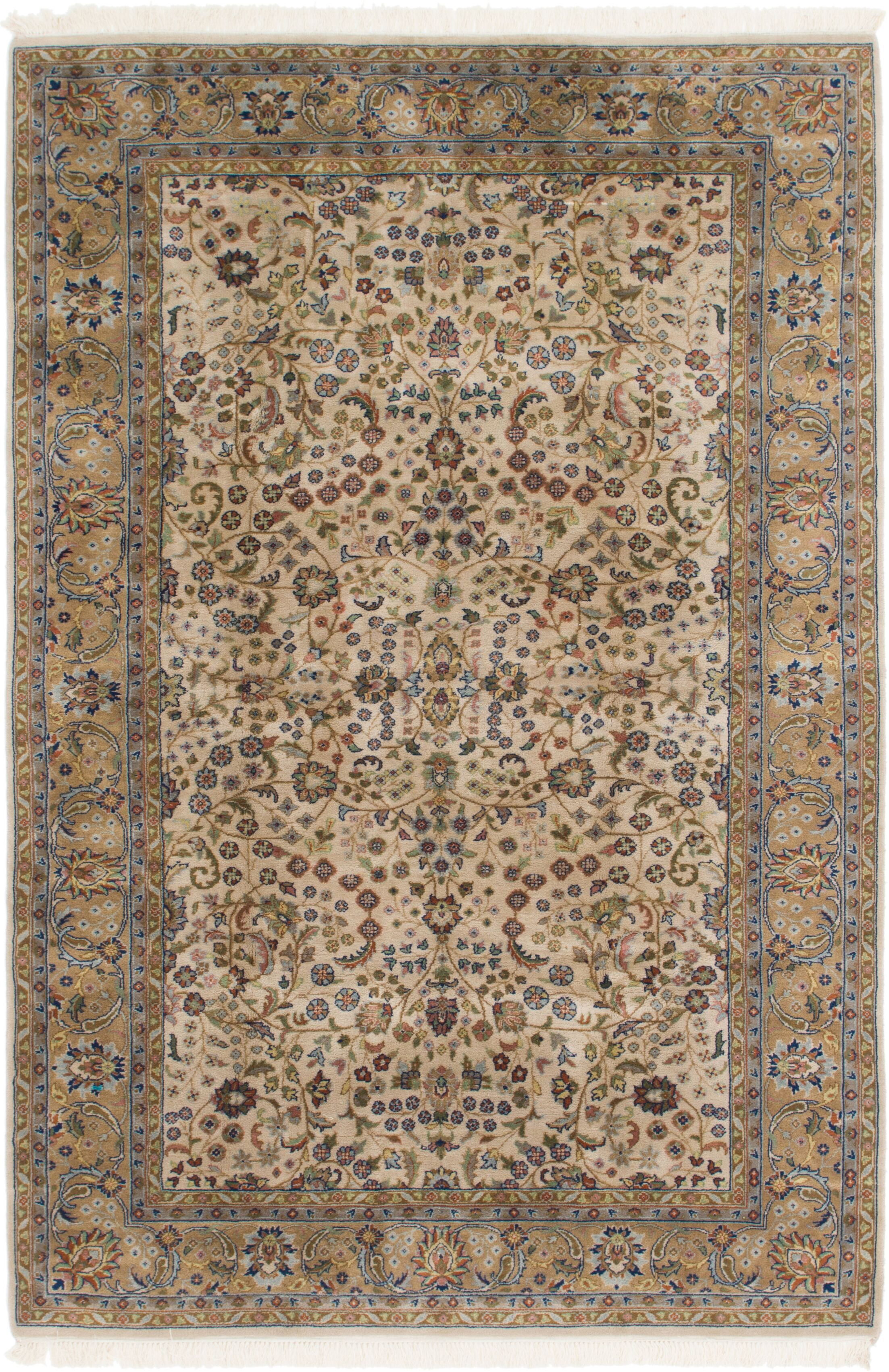 One-of-a-Kind Sarough Hand-Knotted Wool Brown Area Rug