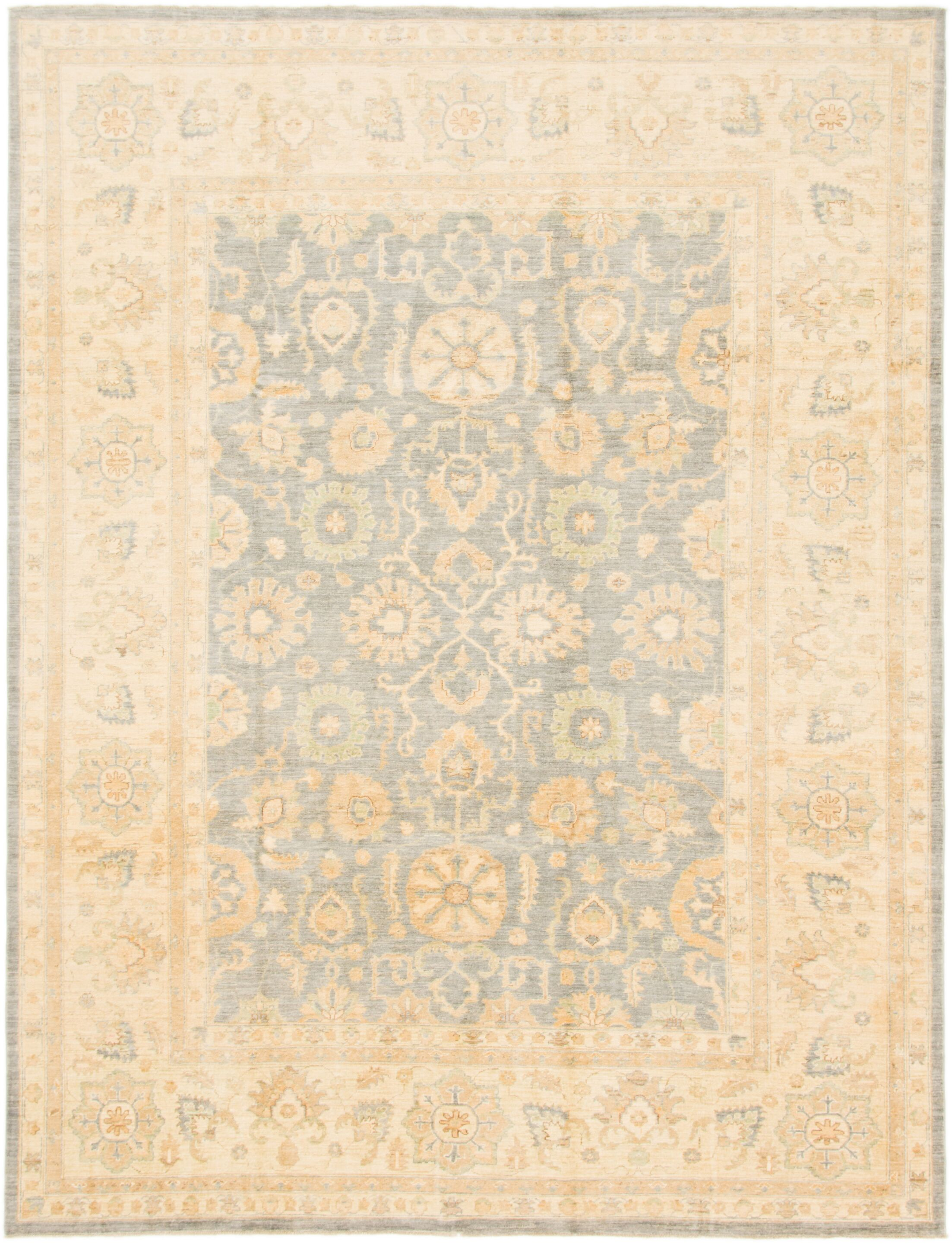 One-of-a-Kind Huntingdon Hand-Knotted Wool Brown/Blue Area Rug