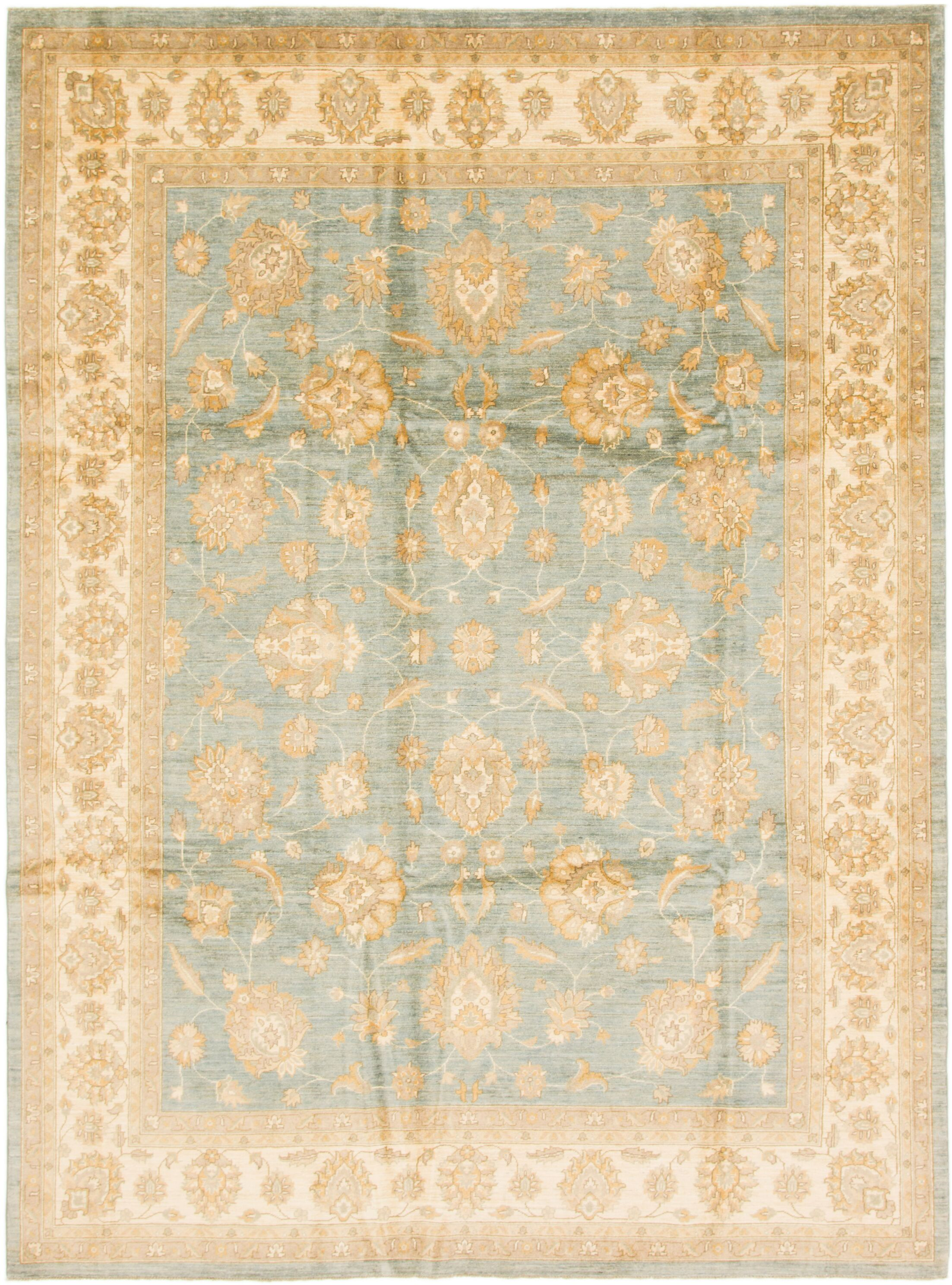 One-of-a-Kind Huntingdon Hand-Knotted Wool Beige/Blue/Brown Area Rug