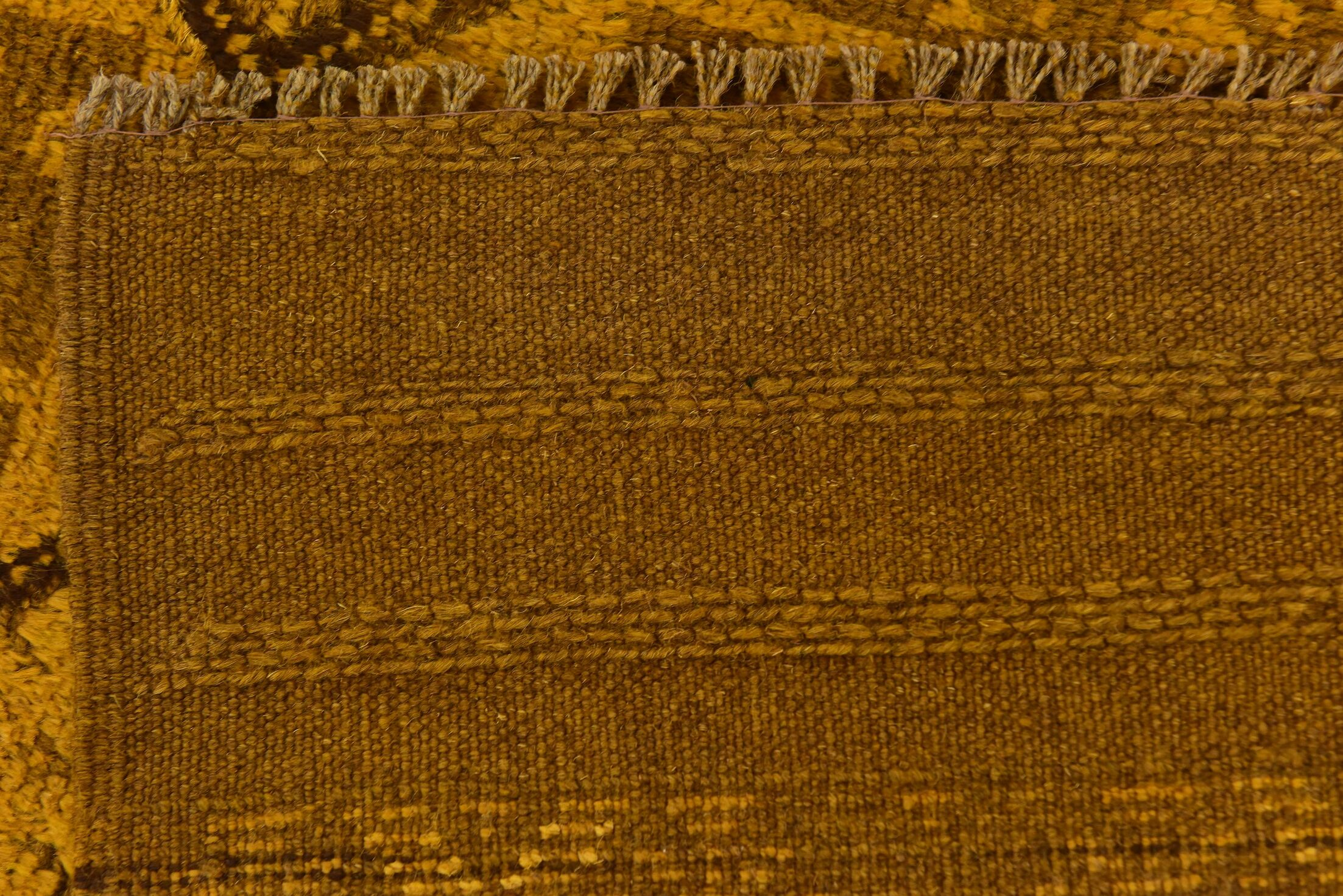 One-of-a-Kind Earley Hand-Knotted Wool Yellow/Brown Area Rug