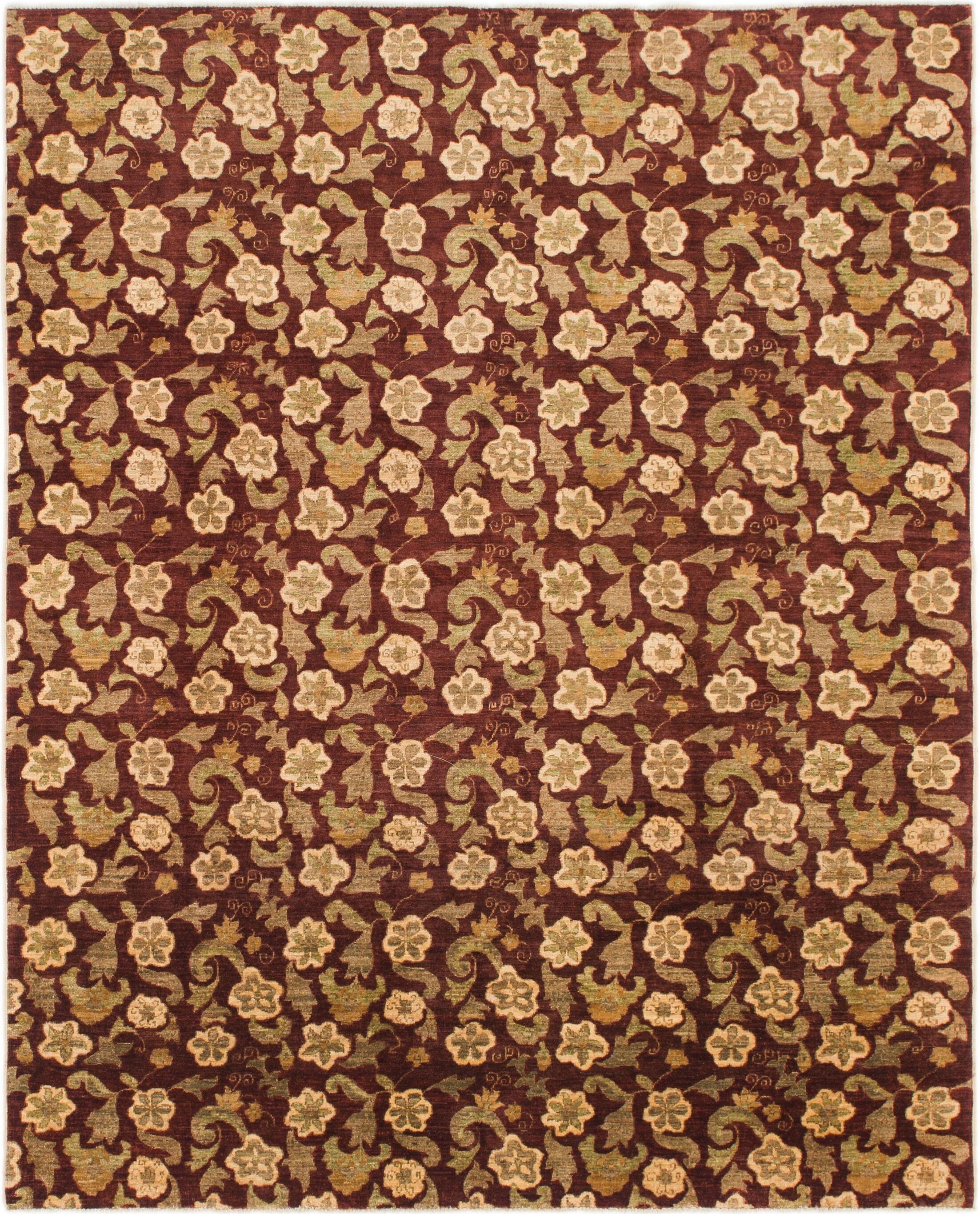 One-of-a-Kind Huntingdon Hand-Knotted Wool Red/Brown Area Rug