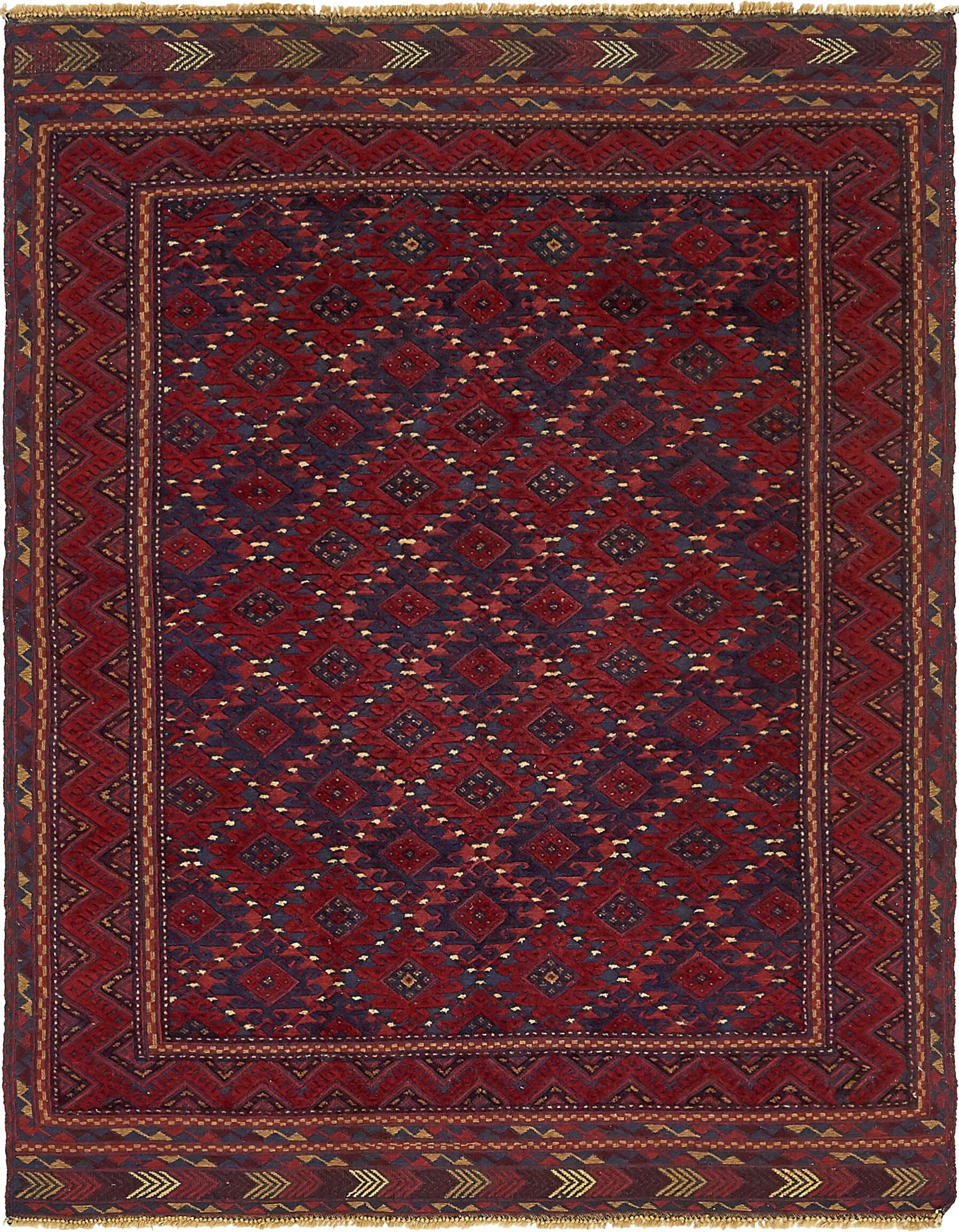 One-of-a-Kind Earley Hand-Knotted Wool Red Area Rug