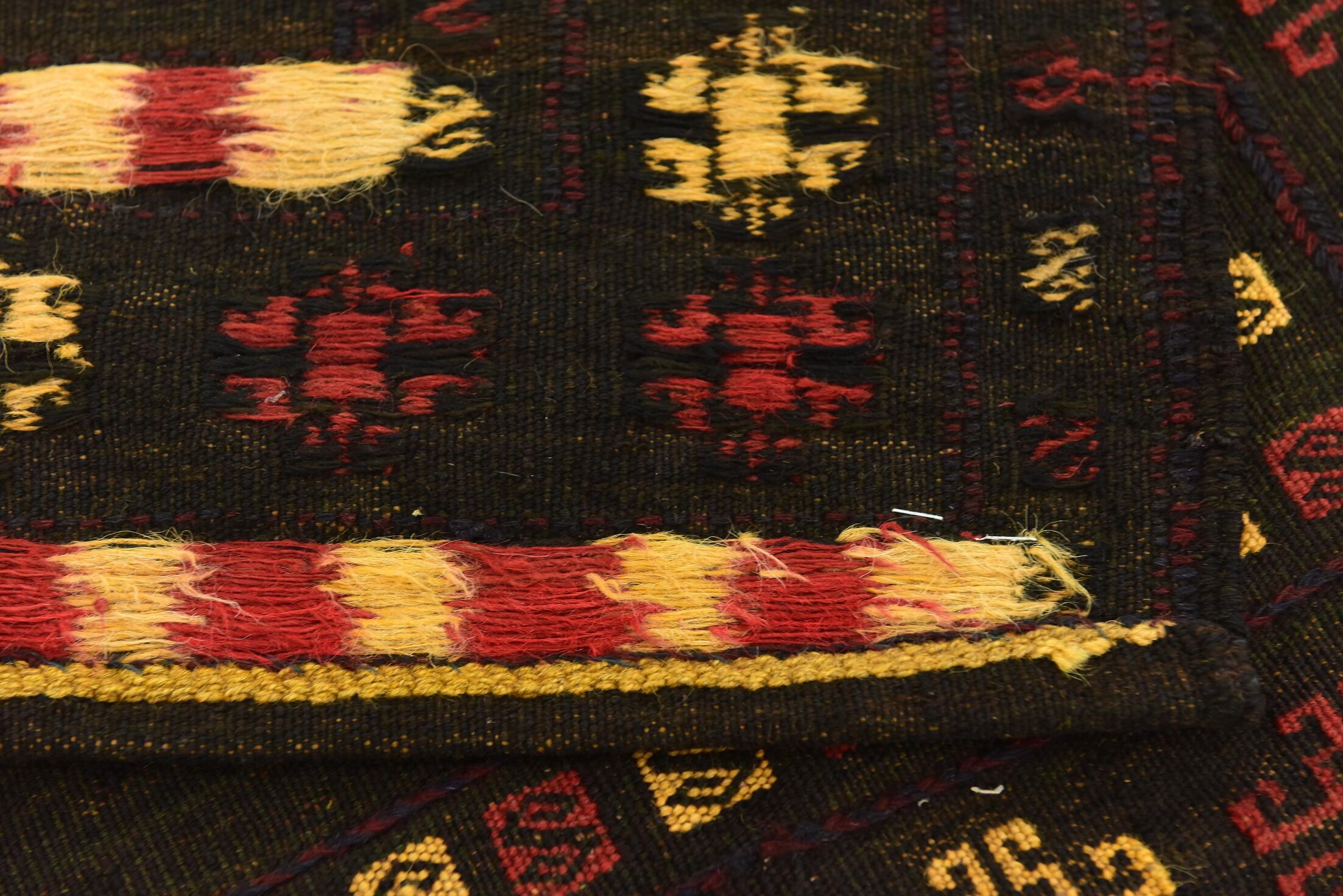 One-of-a-Kind Earley Hand-Knotted Wool Green/Yellow/Red Area Rug