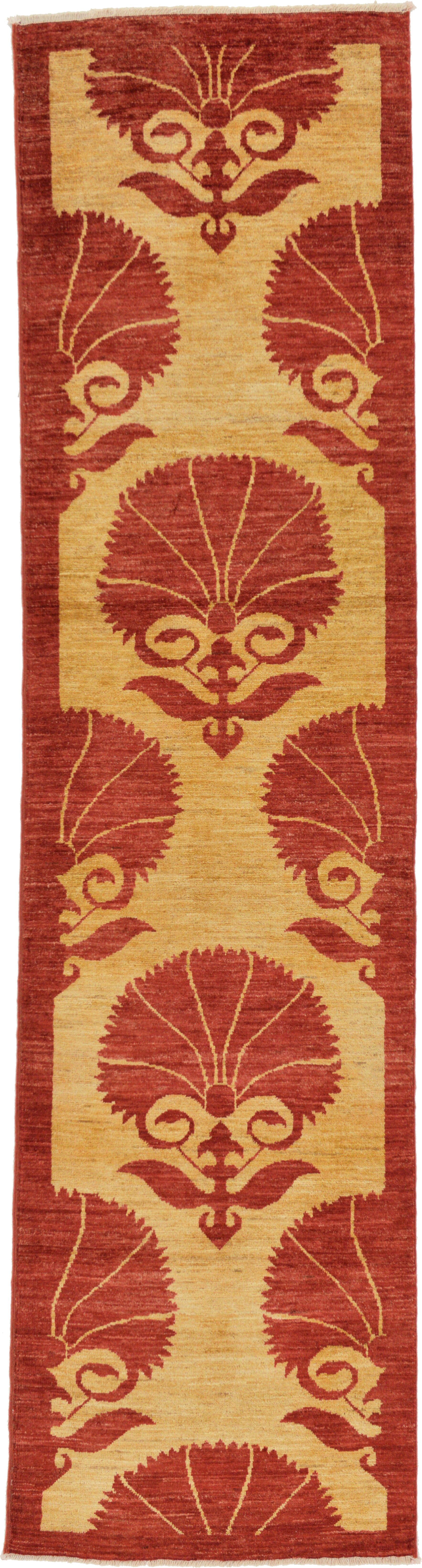 One-of-a-Kind Nash Hand-Knotted Wool Red/Beige Area Rug
