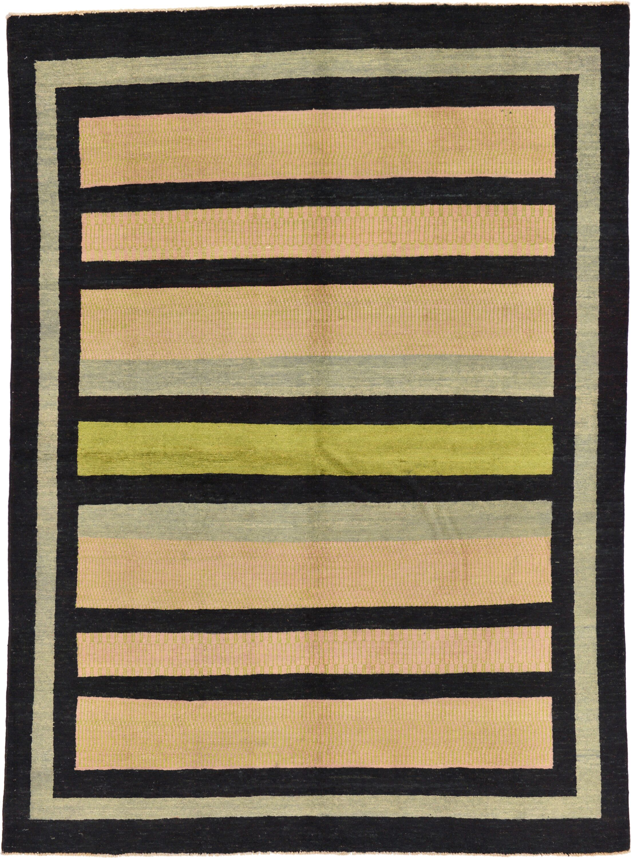 One-of-a-Kind Nash Hand-Knotted Wool Beige/Black Area Rug