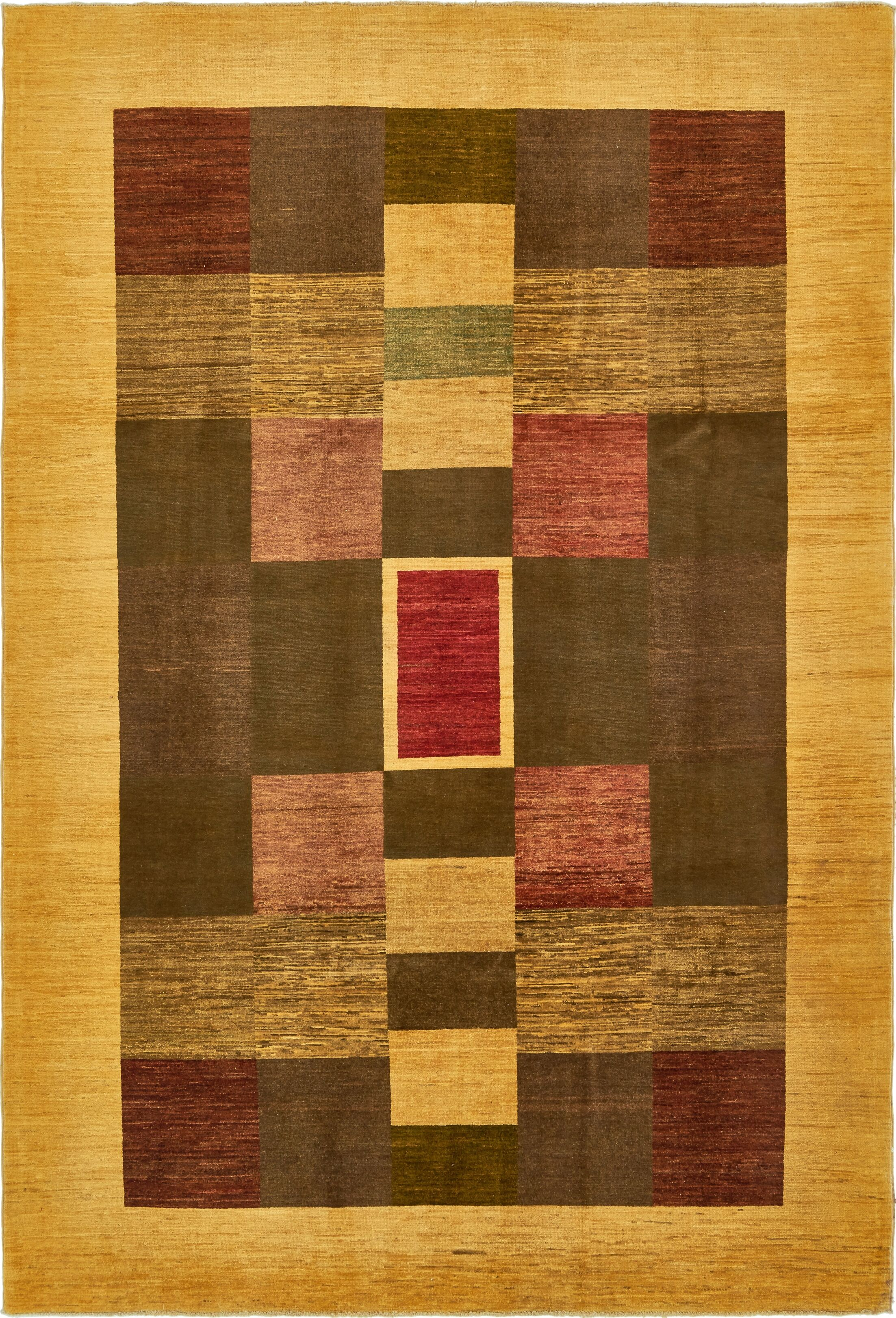 One-of-a-Kind Nash Hand-Knotted Wool Yellow/Brown Area Rug