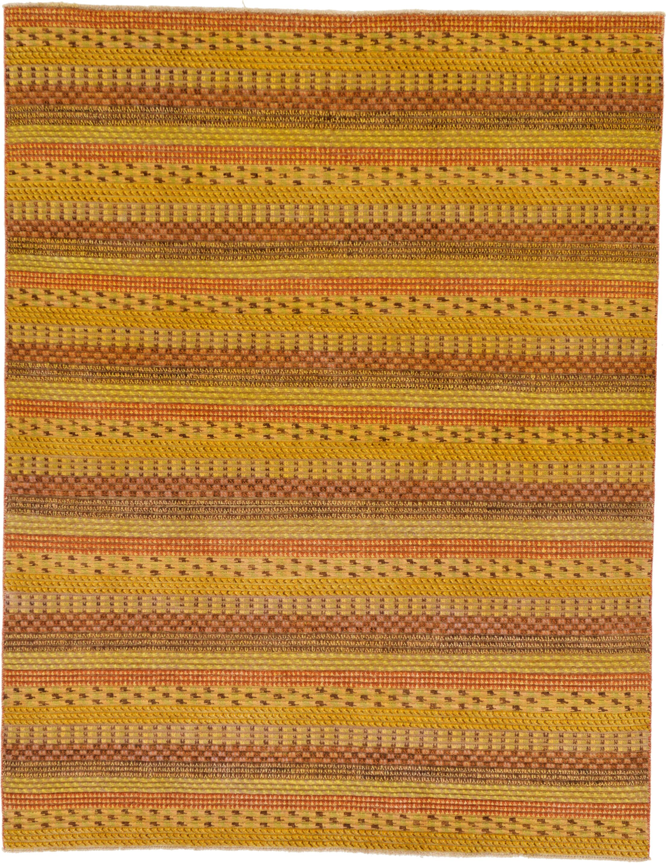 One-of-a-Kind Nash Hand-Knotted Wool Yellow Area Rug