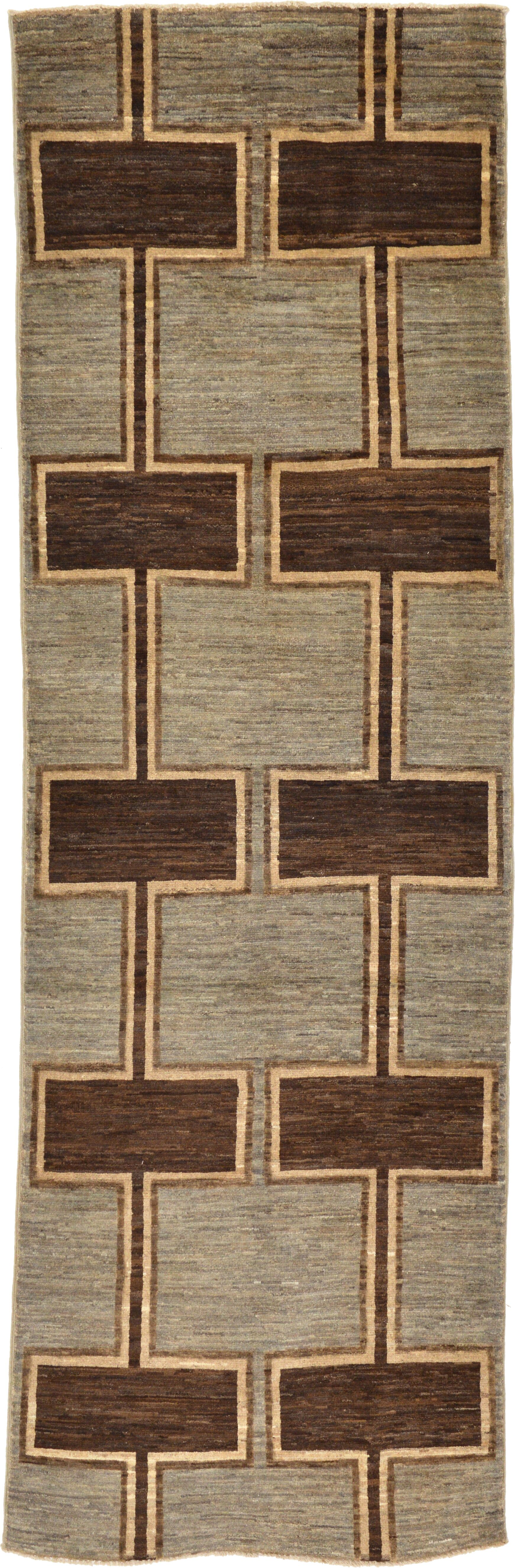 One-of-a-Kind Nash Hand-Knotted Wool Brown Area Rug