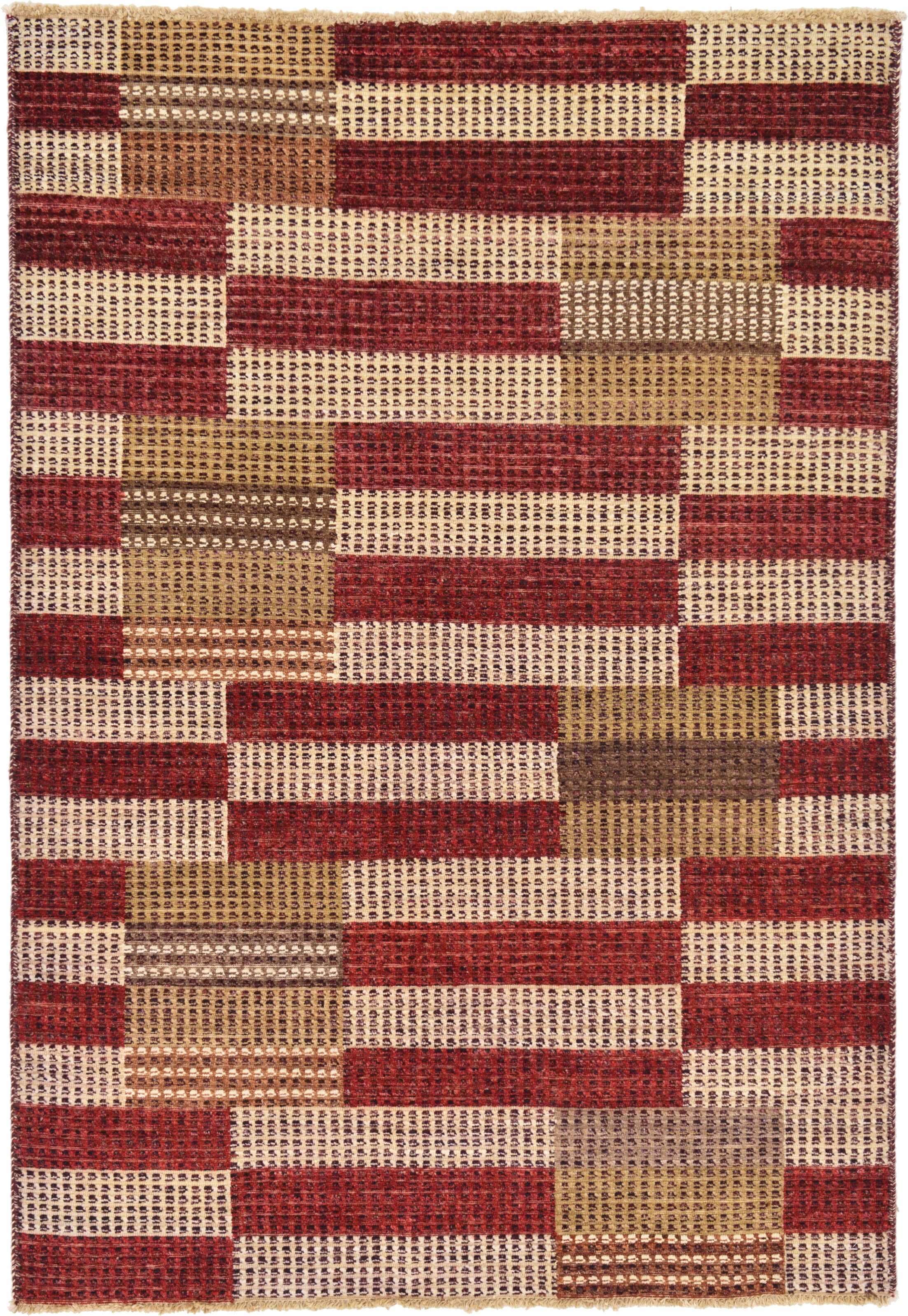 One-of-a-Kind Nash Hand-Knotted Wool/Silk Brown/Red Area Rug