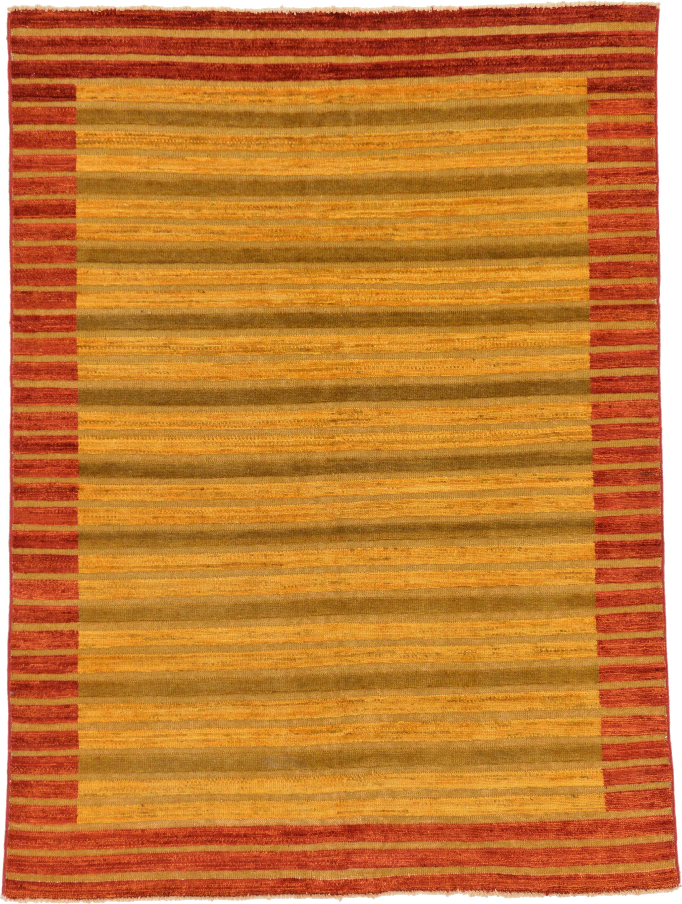 One-of-a-Kind Nash Hand-Knotted Wool Red/Yellow Area Rug