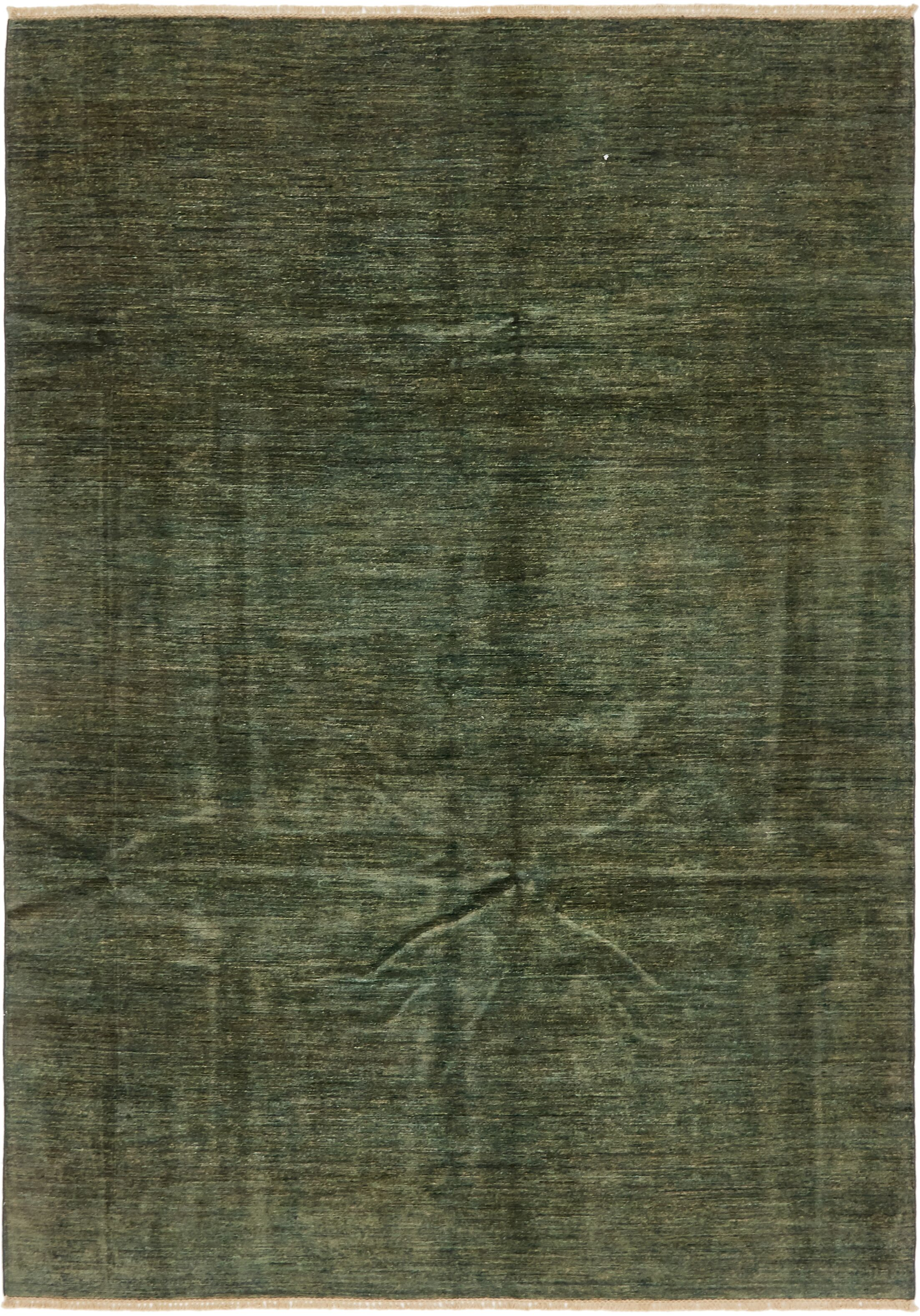One-of-a-Kind Nash Hand-Knotted Wool Green/Gray Area Rug