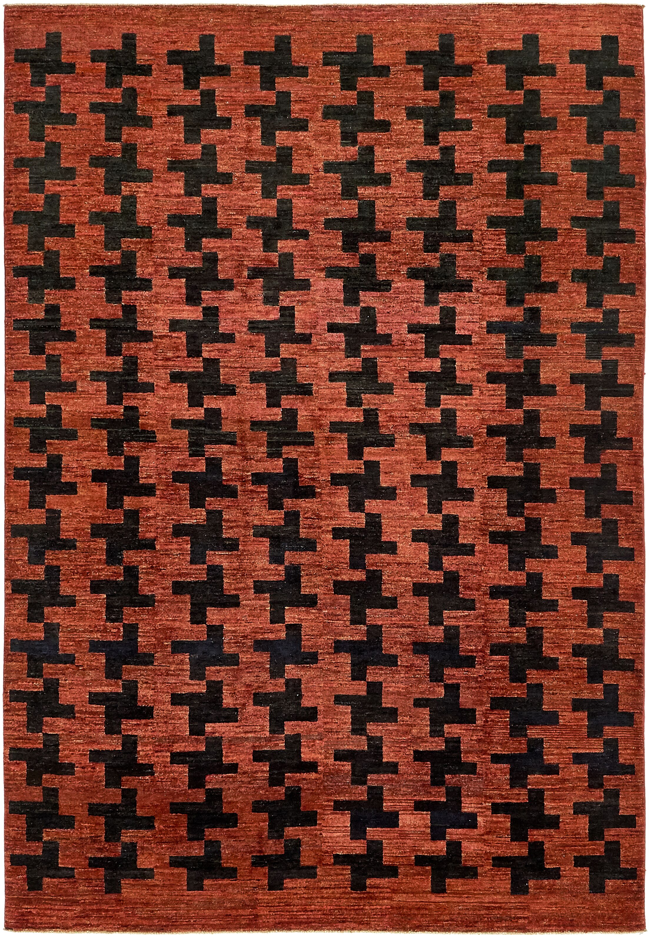 One-of-a-Kind Nash Hand-Knotted Wool Brown/Black Area Rug