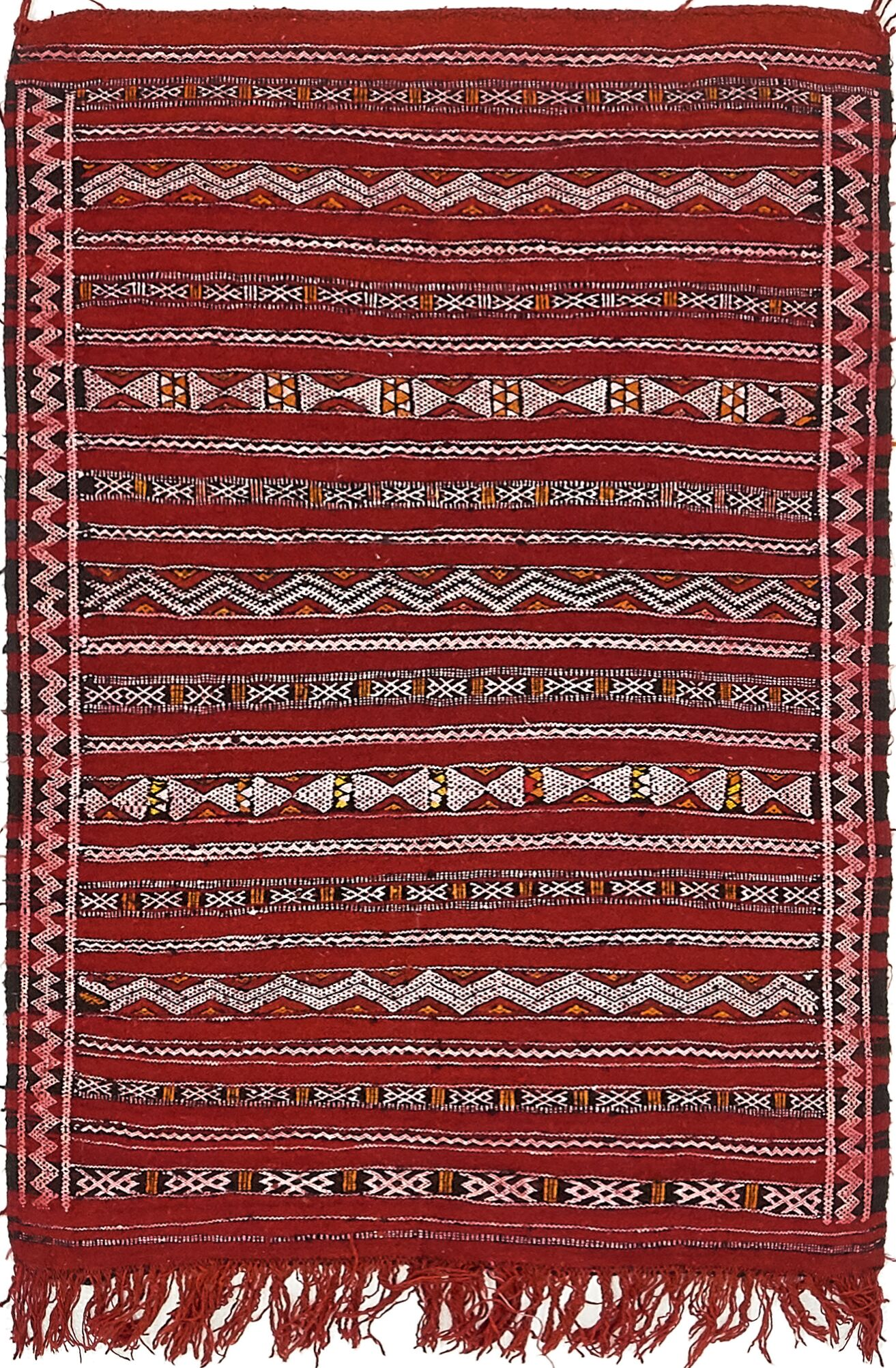 One-of-a-Kind Alresford Hand-Knotted Wool Red Area Rug